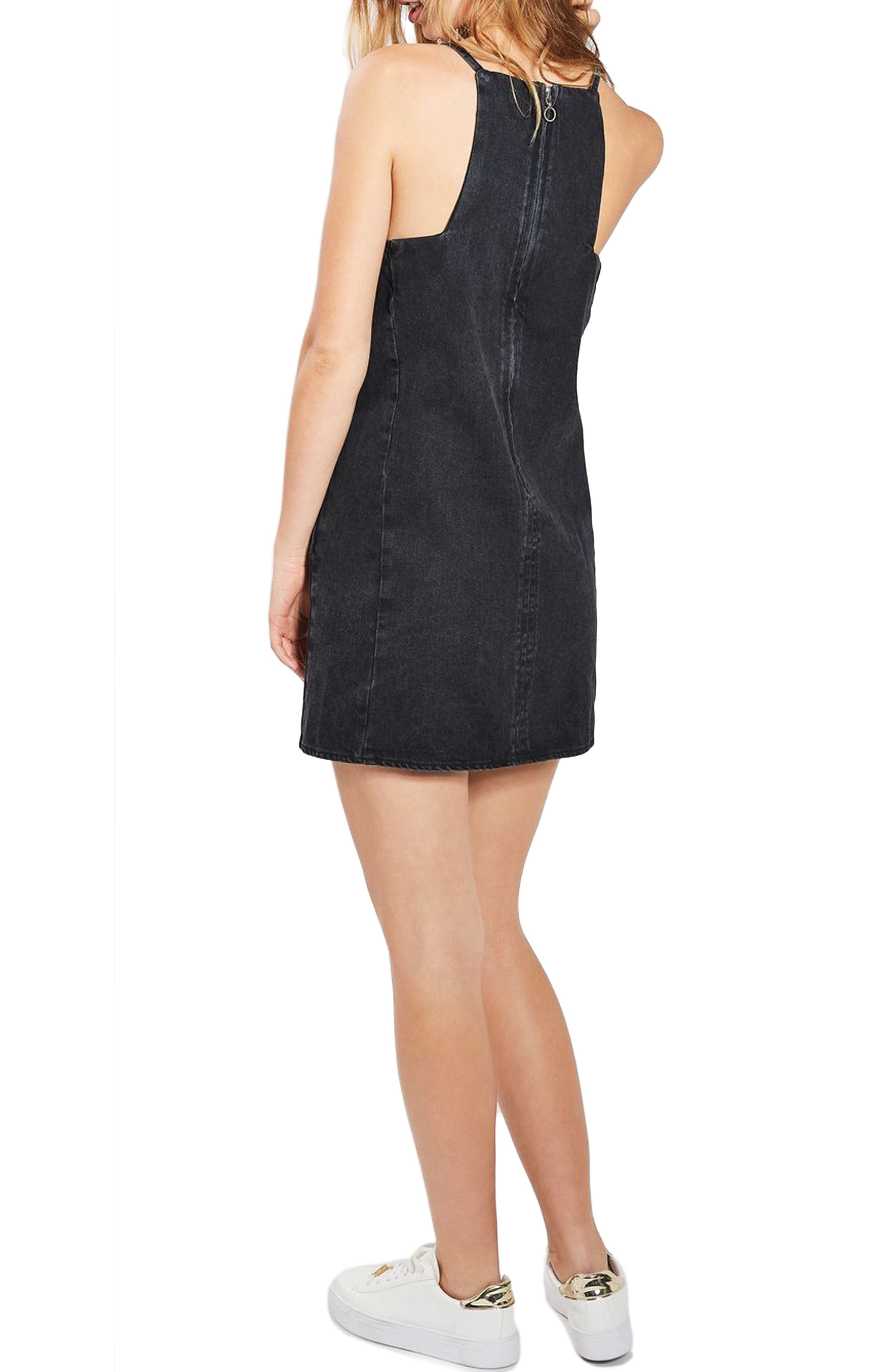 Alternate Image 3  - Topshop Tulip Embroidered Pinafore Dress