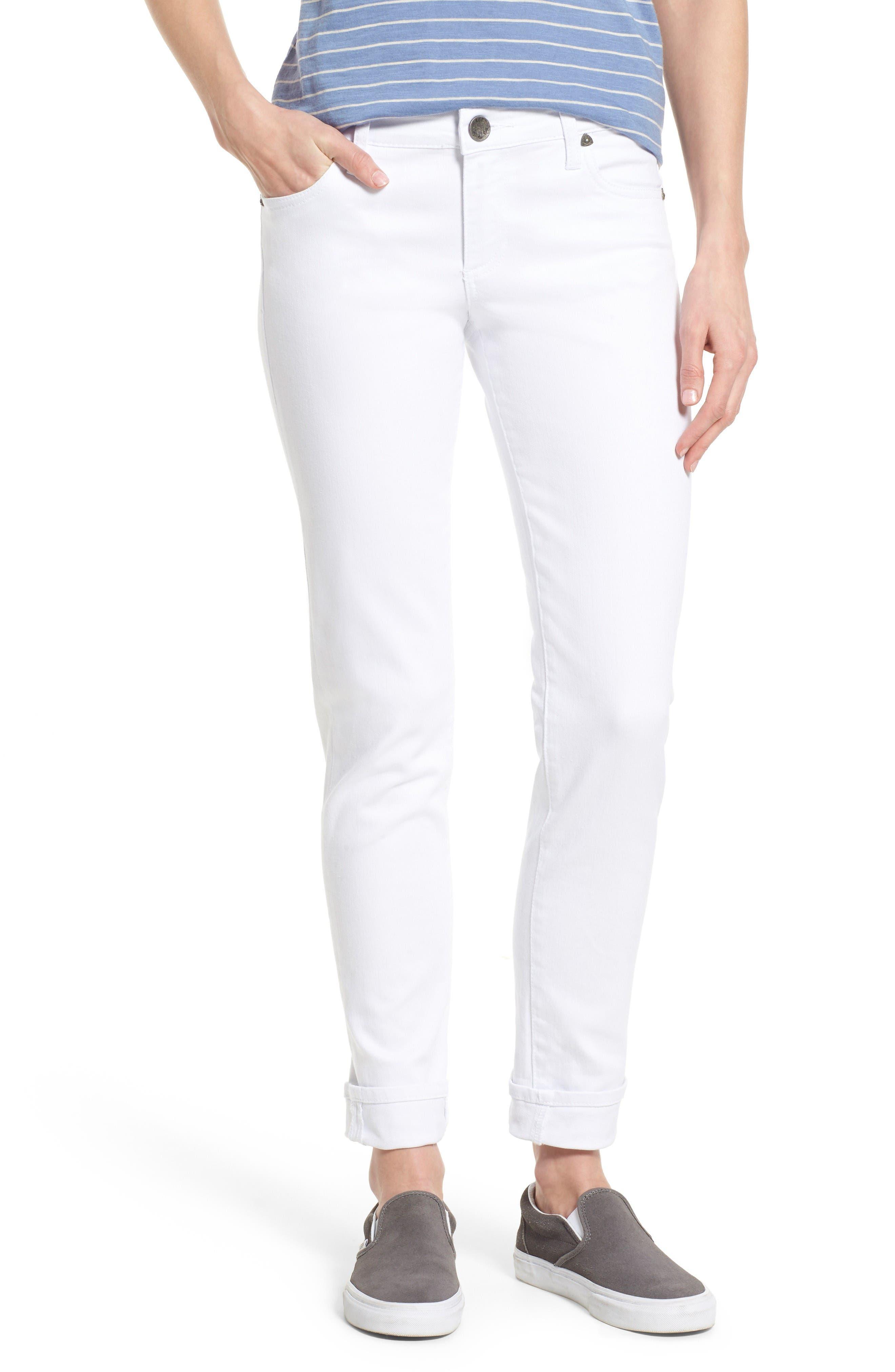Catherine Stretch Boyfriend Jeans,                         Main,                         color, White