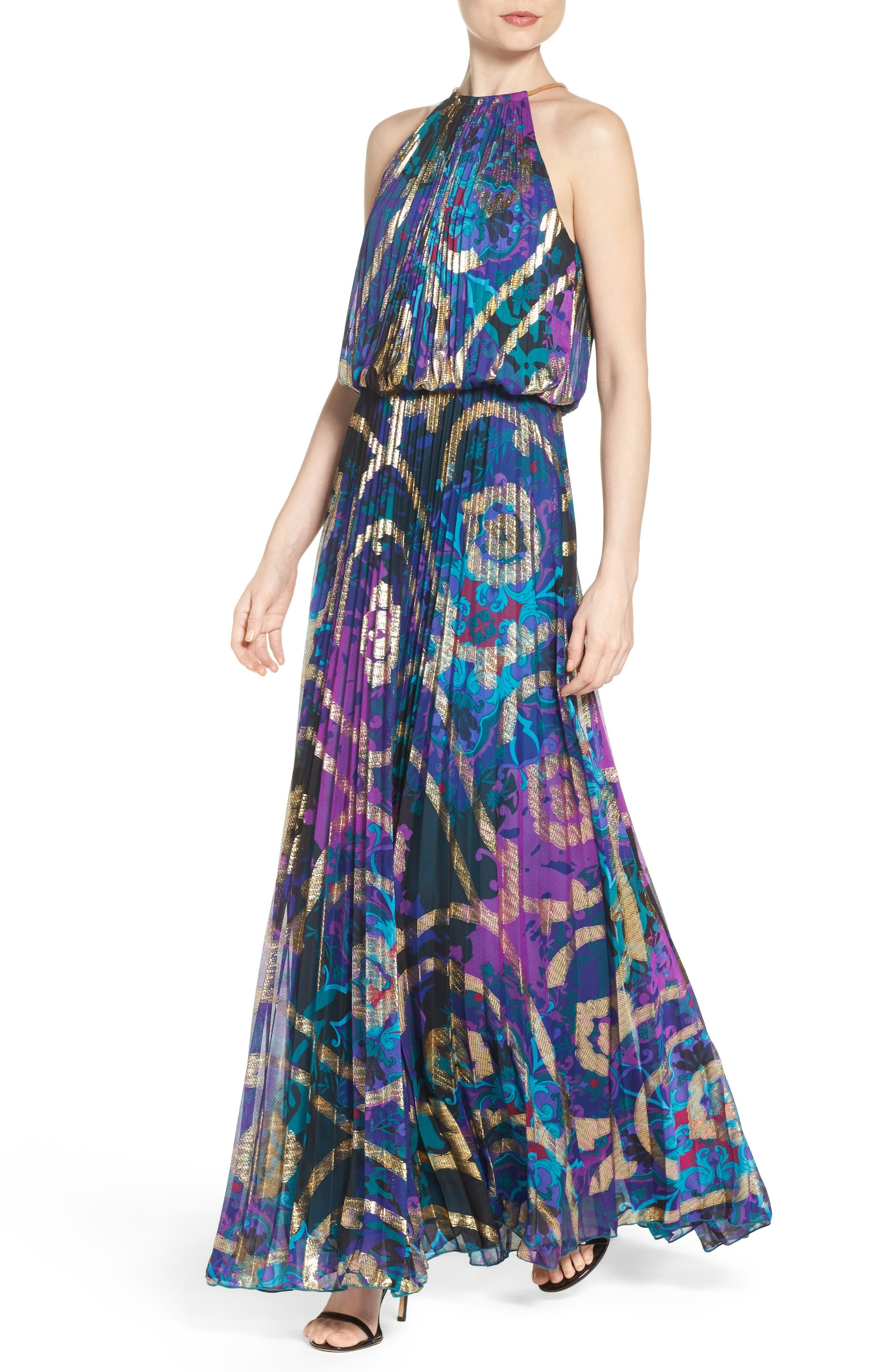 Alternate Image 4  - Xscape Pleated Blouson Gown