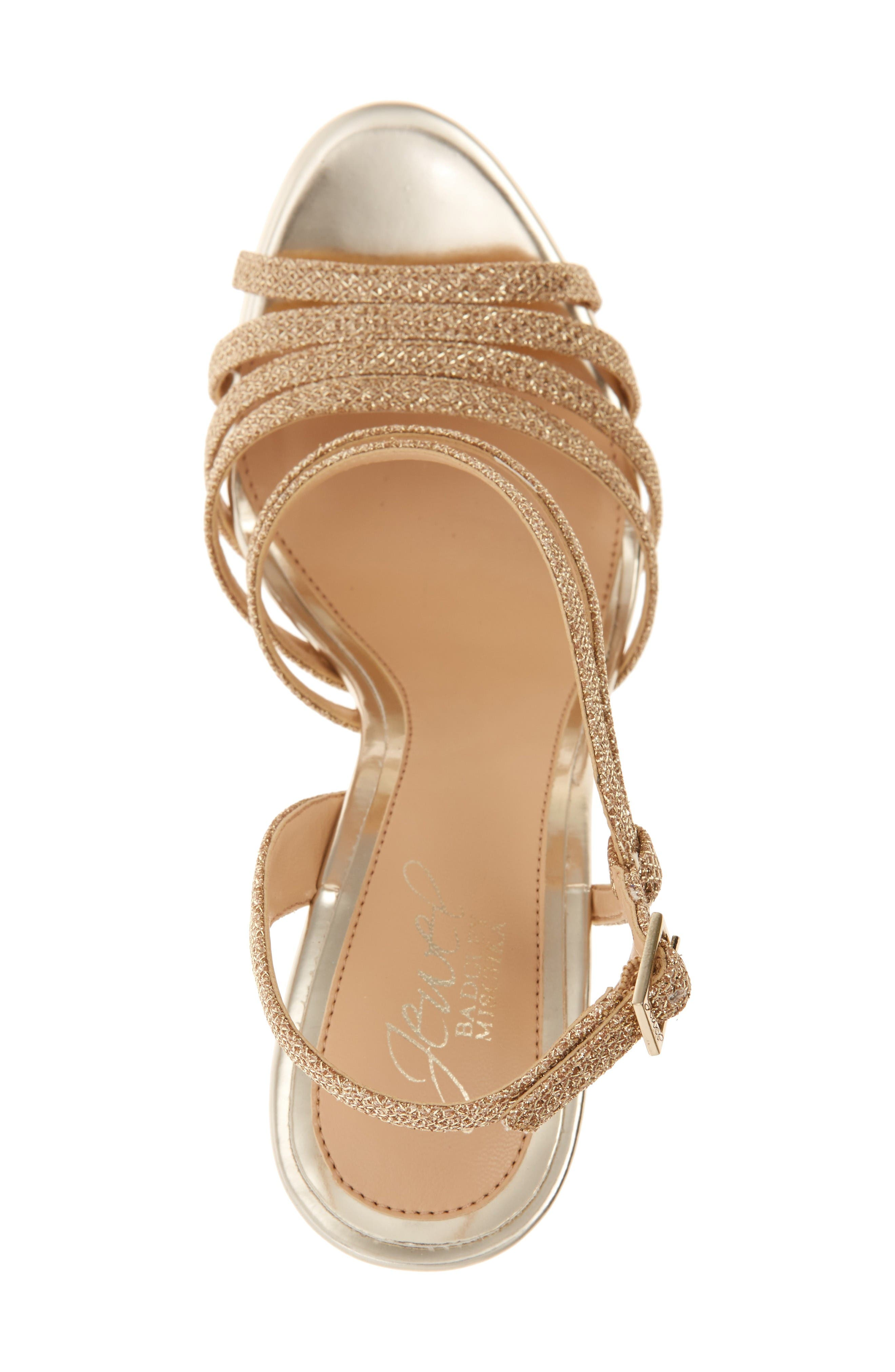 Humble Strappy Sandal,                             Alternate thumbnail 3, color,                             Gold Glitter Fabric