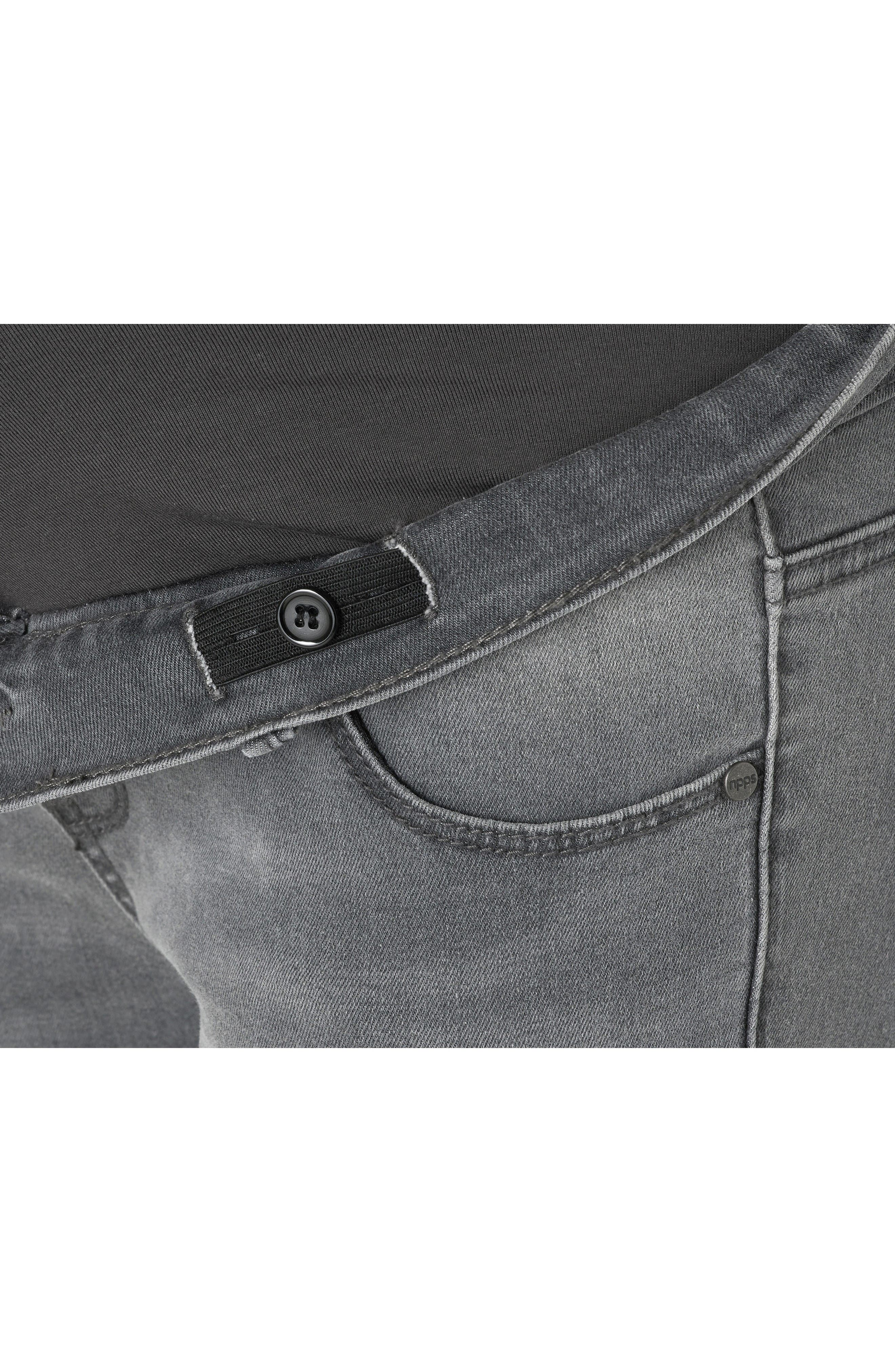 Avi Skinny Maternity Jeans,                             Alternate thumbnail 4, color,                             Grey Denim
