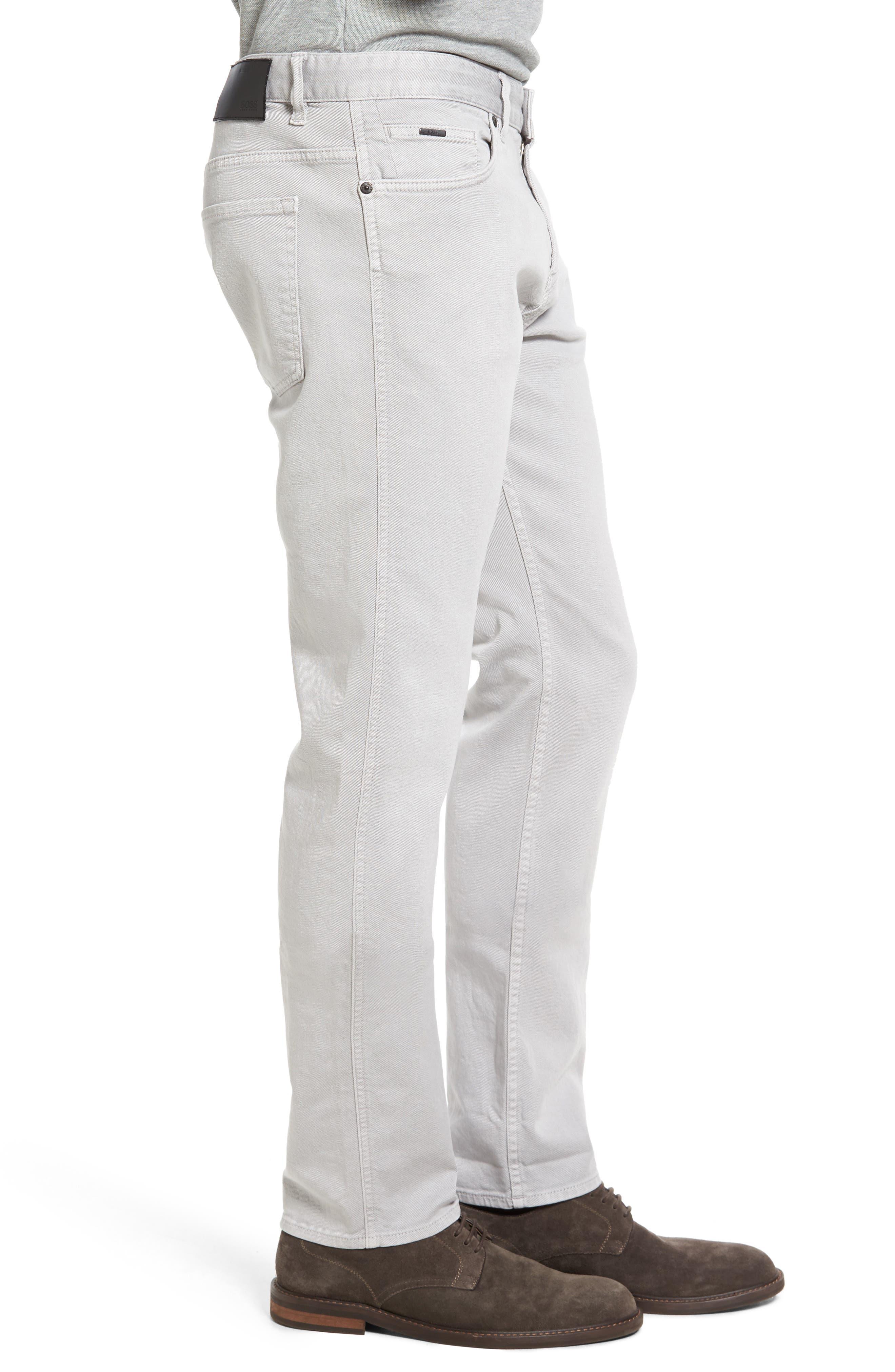Alternate Image 3  - BOSS Delaware Grey Slim Fit Jeans