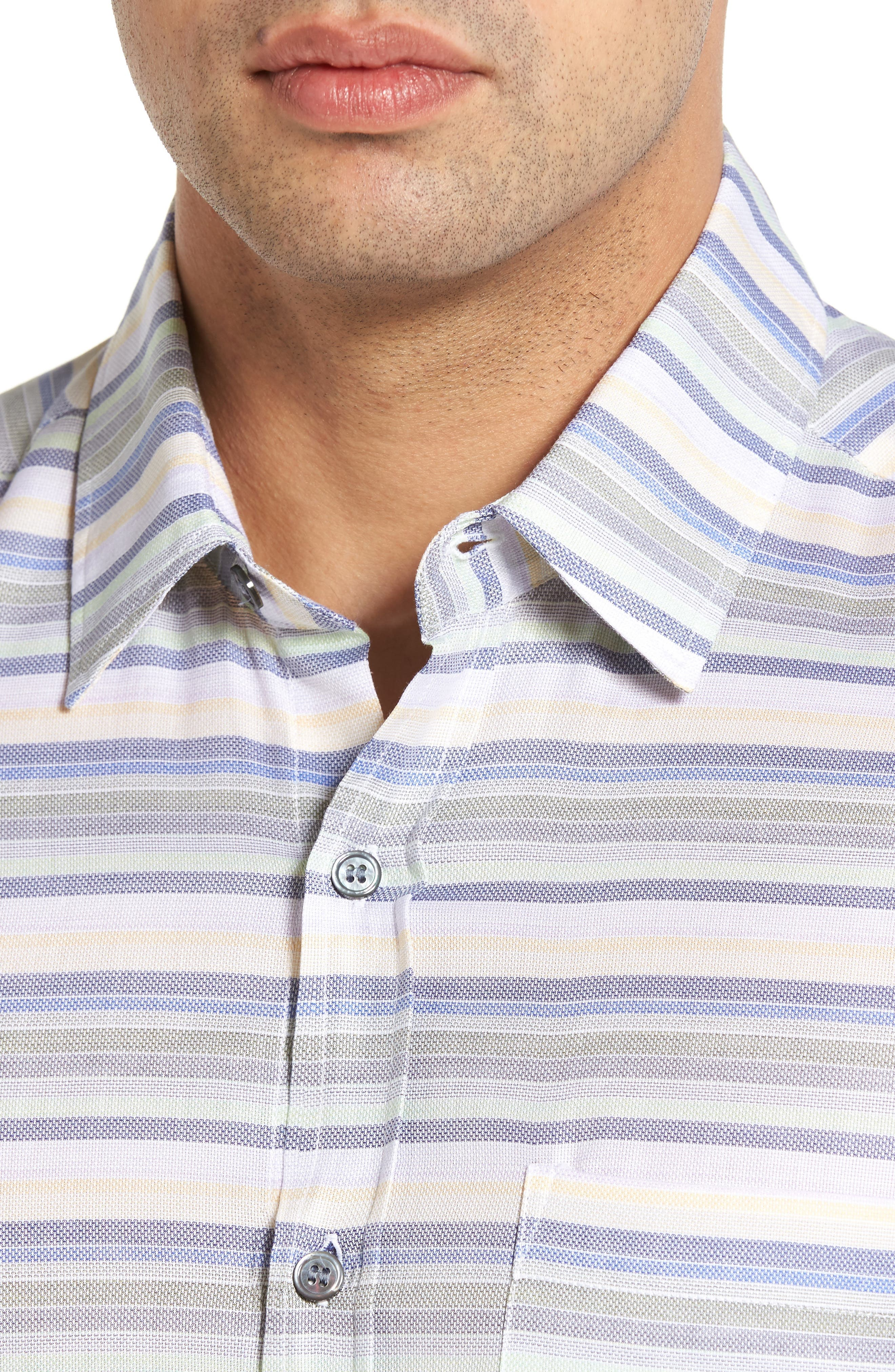 Alternate Image 4  - Lanai Collection Classic Fit Sport Shirt