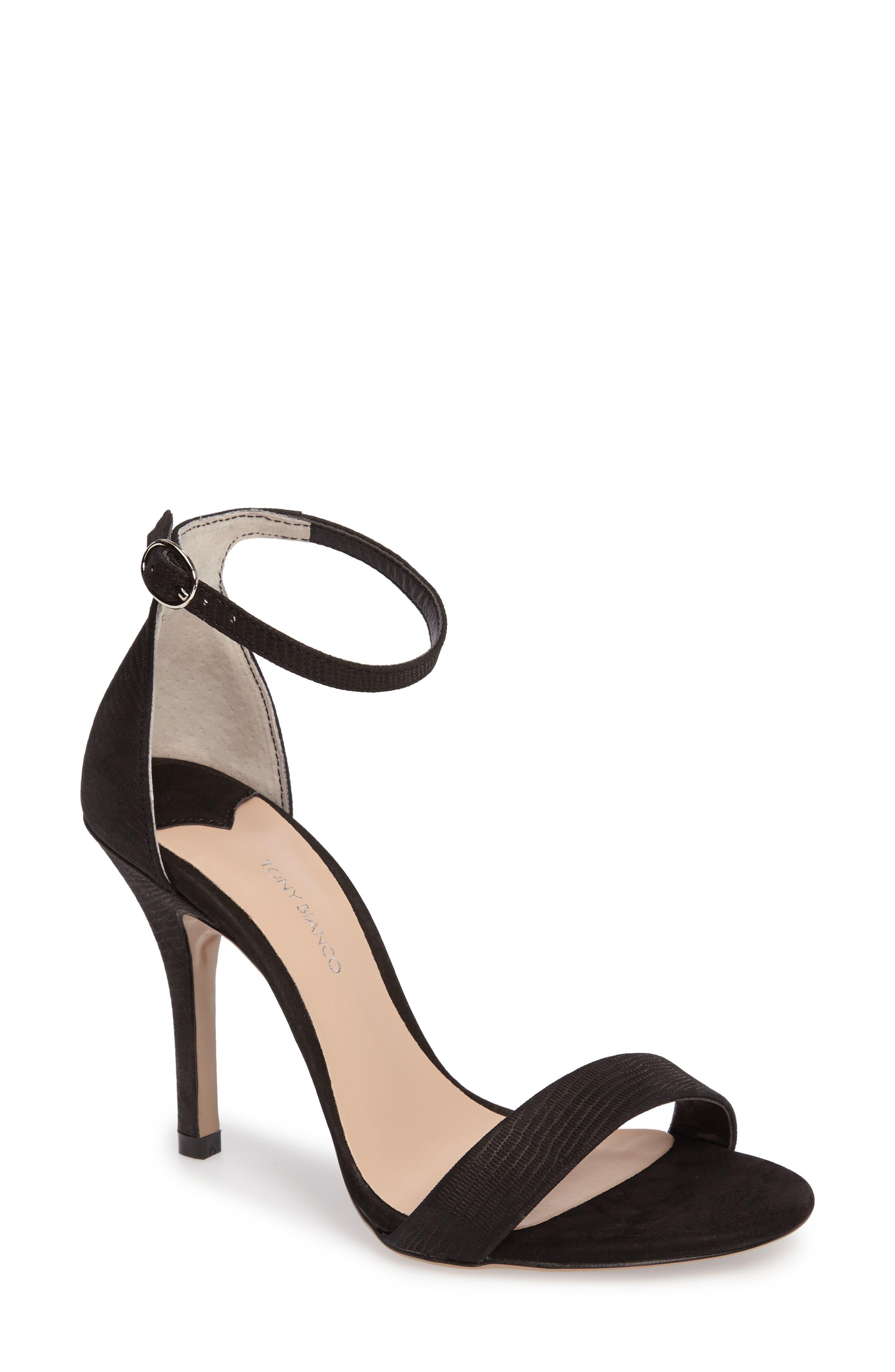 Lovinia Strappy Sandal,                         Main,                         color, Black Berlin