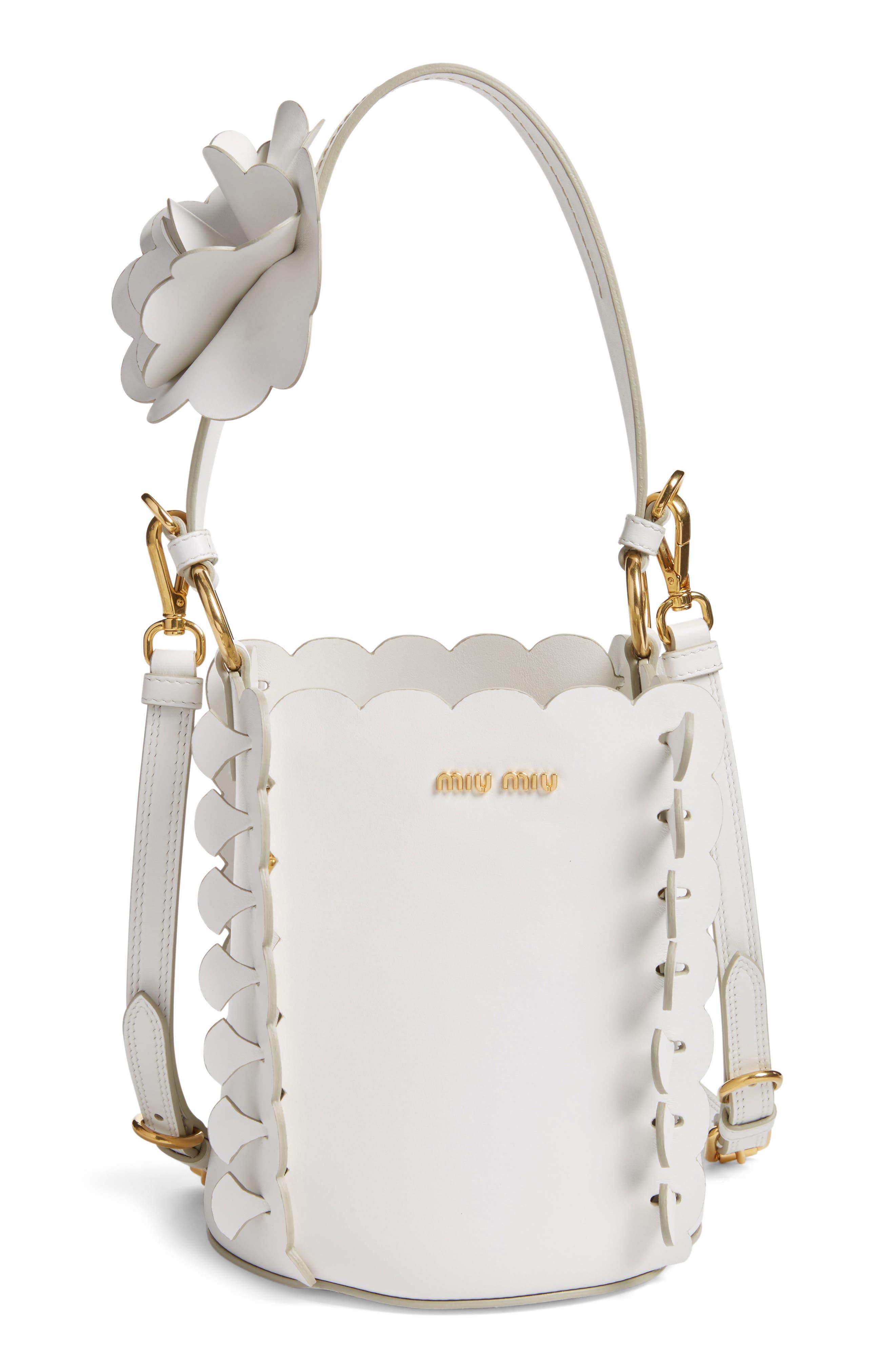 Alternate Image 1 Selected - Miu Miu Leather Bucket Bag