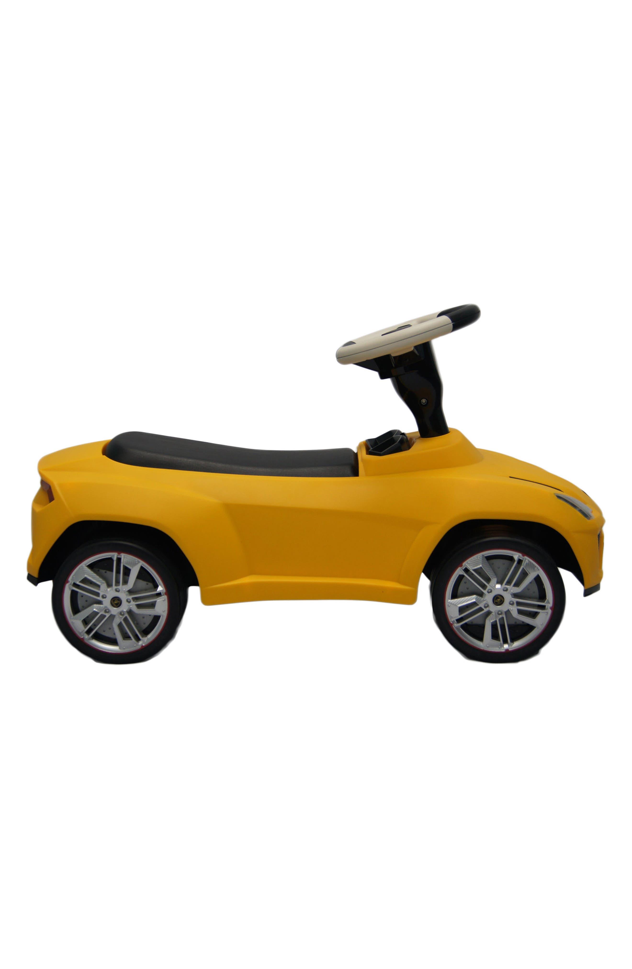 Lamborghini Urus Ride-On Push Car,                             Alternate thumbnail 3, color,                             Yellow
