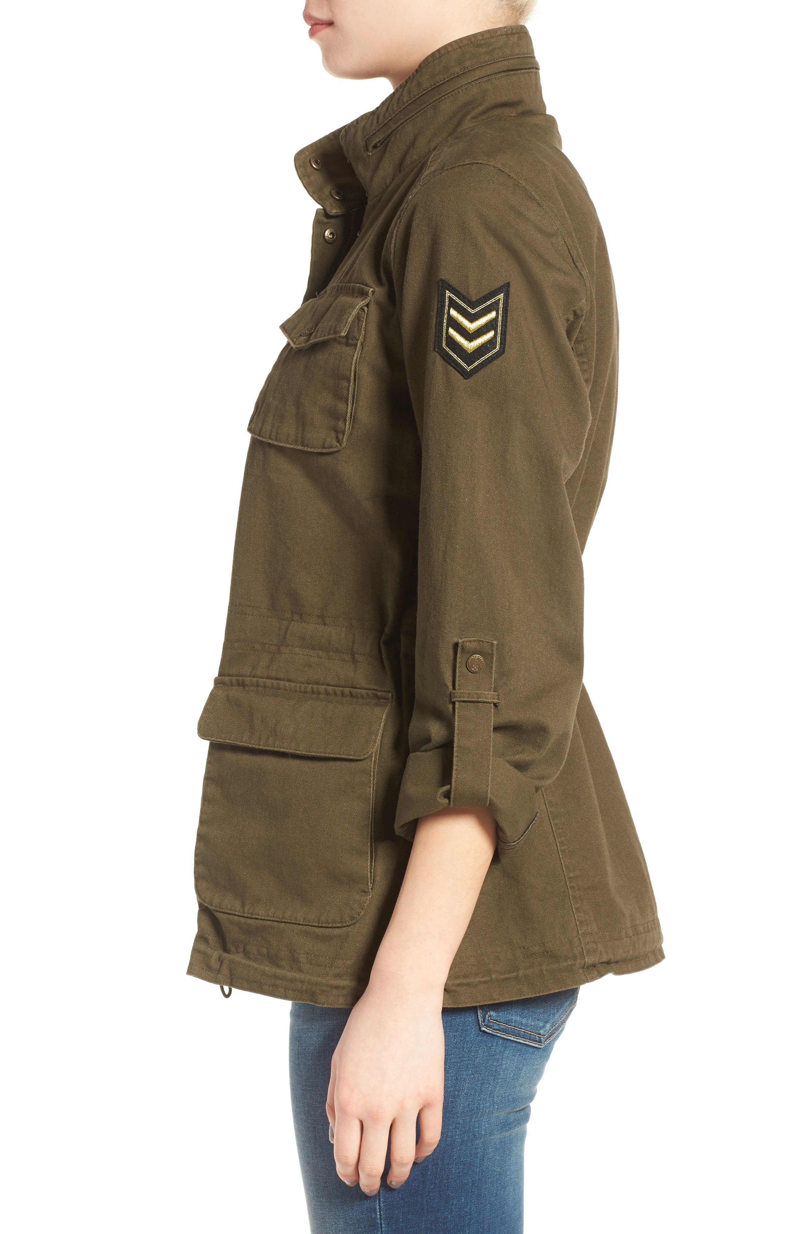 Alternate Image 3  - Vince Camuto Embroidered Cotton Twill Utility Jacket