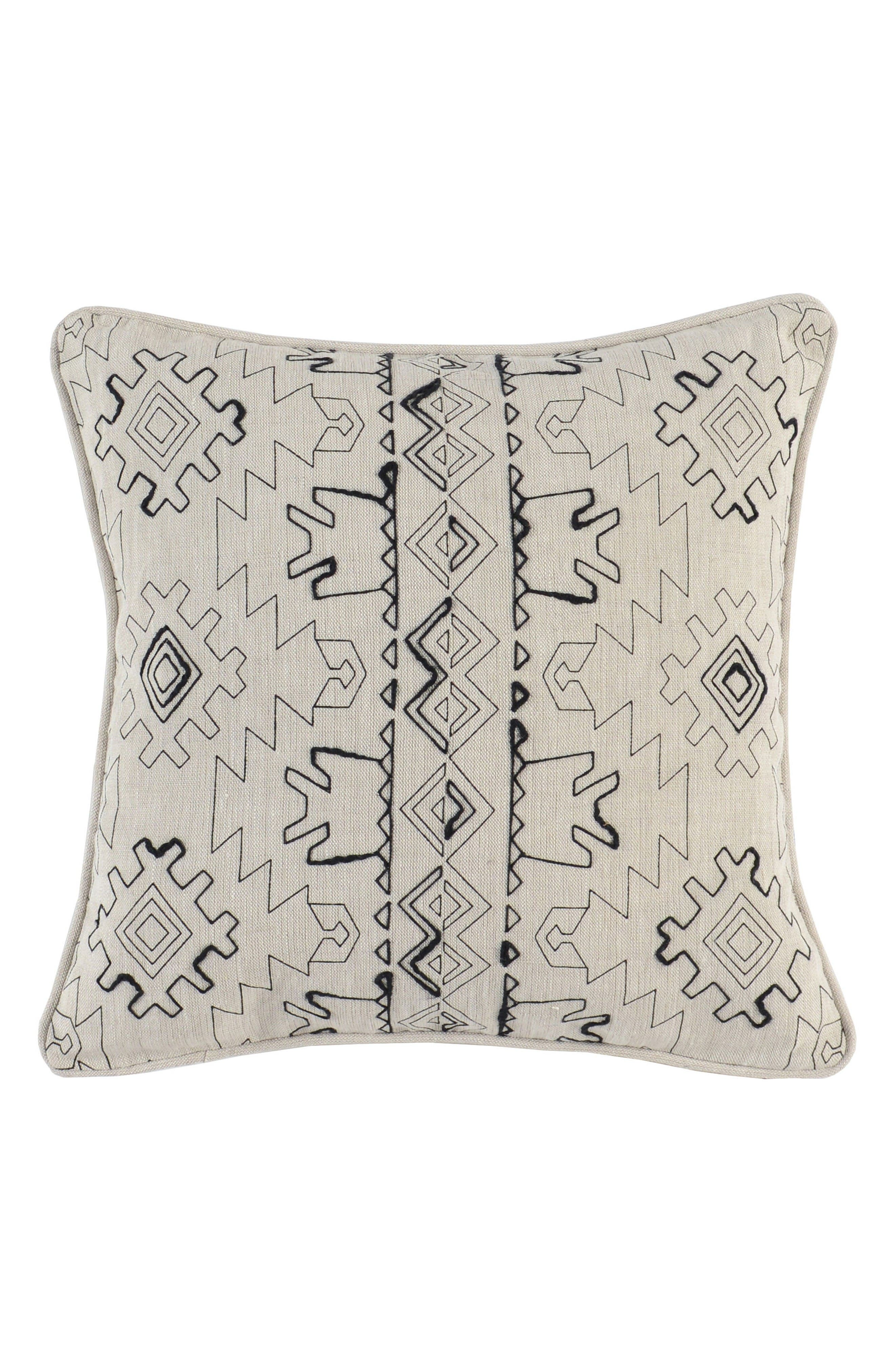 Hawley Accent Pillow,                             Main thumbnail 1, color,                             Ivory/ Onyx