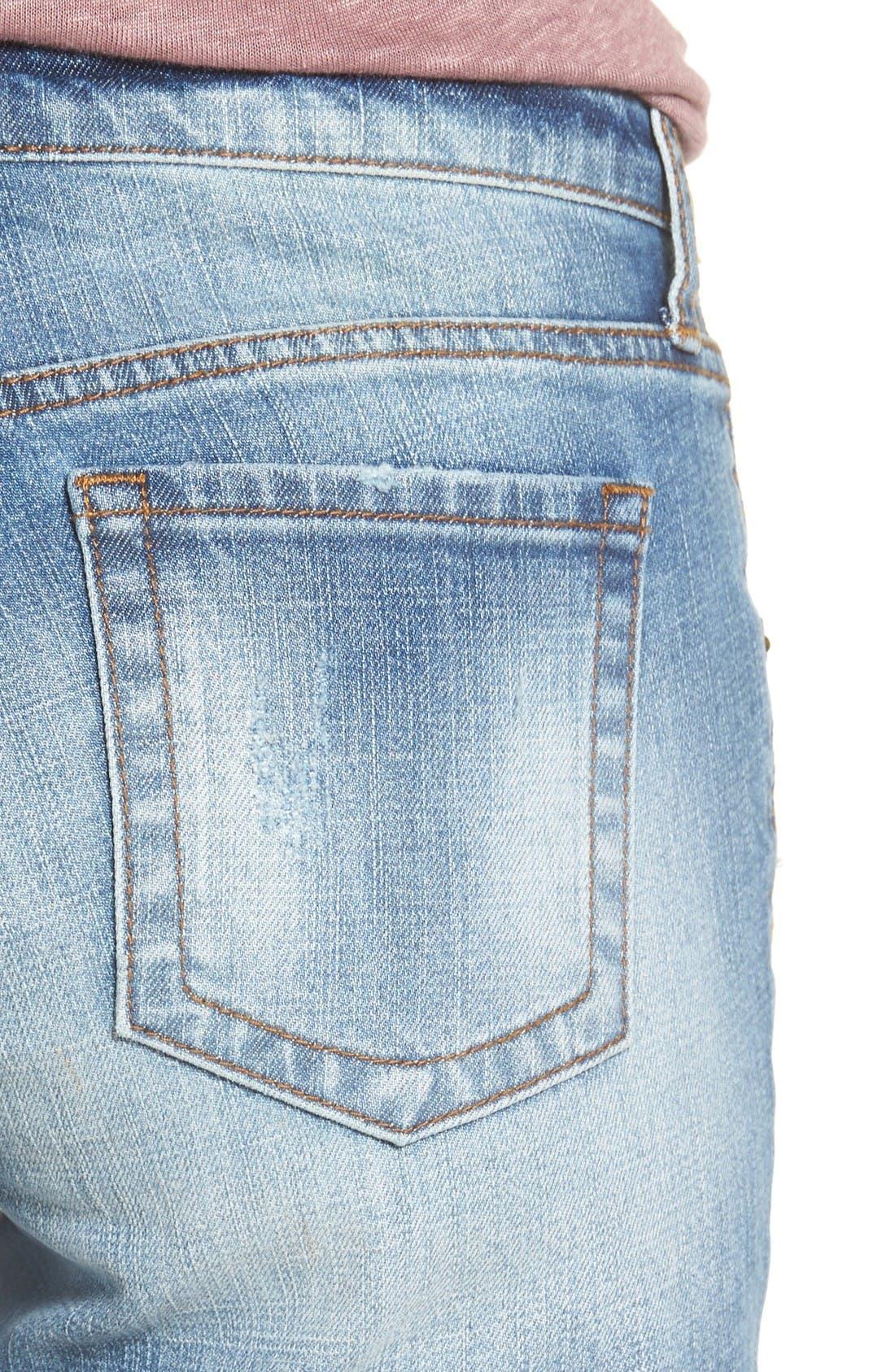 Alternate Image 4  - KUT from the Kloth Gidget Frayed Hem Denim Shorts
