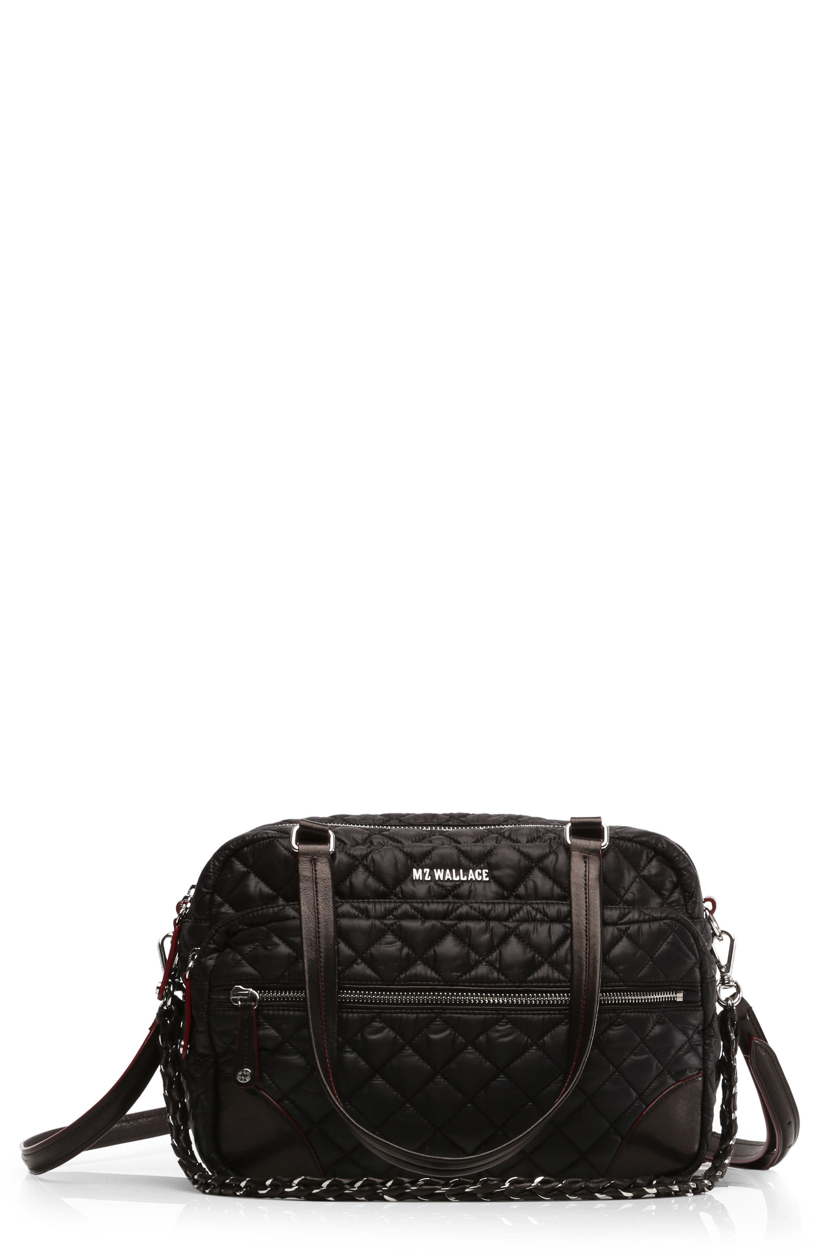 Main Image - MZ Wallace Medium Crosby Quilted Oxford Nylon Crossbody Bag