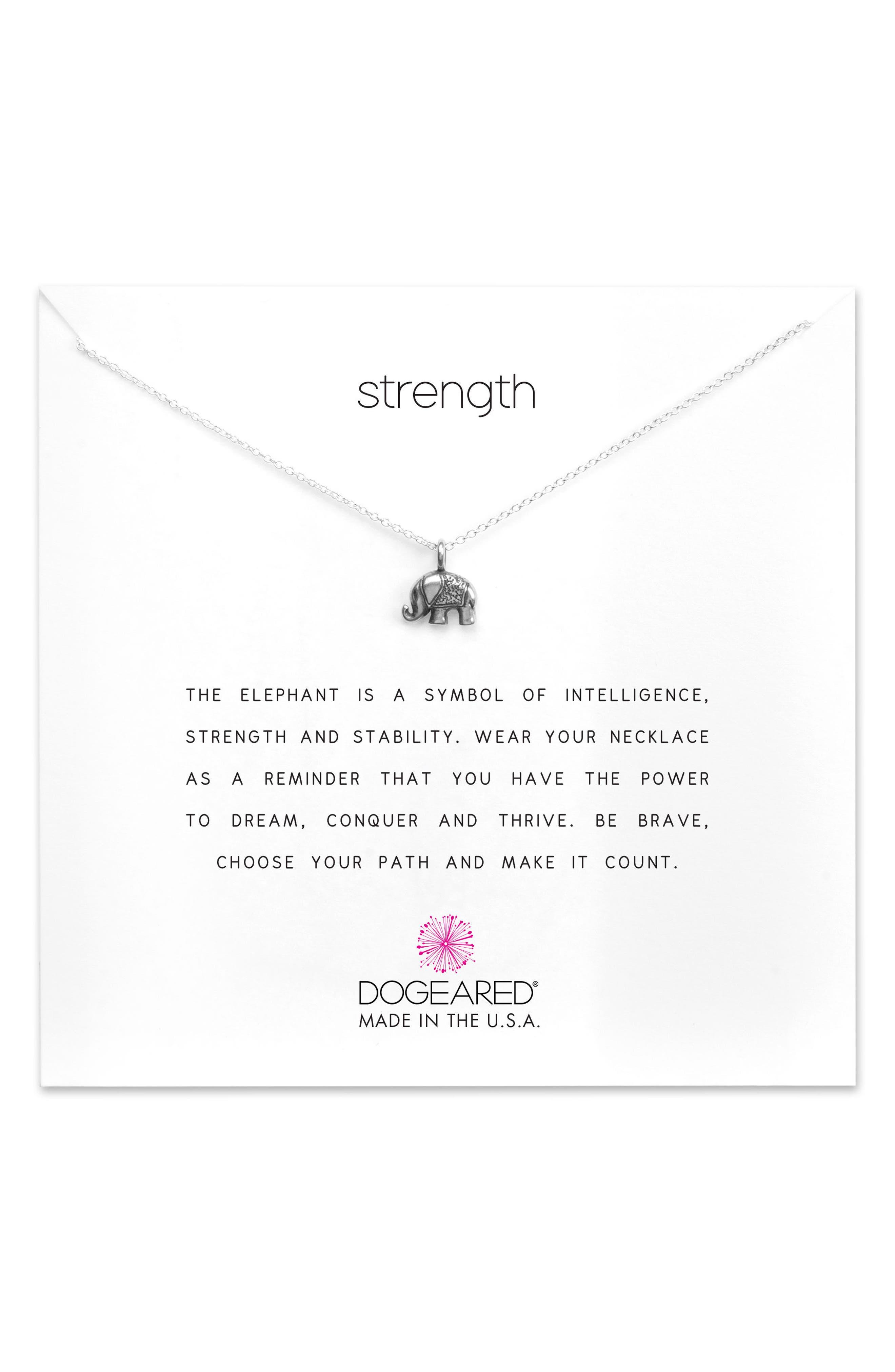 Dogeared Reminder - Strength Pendant Necklace