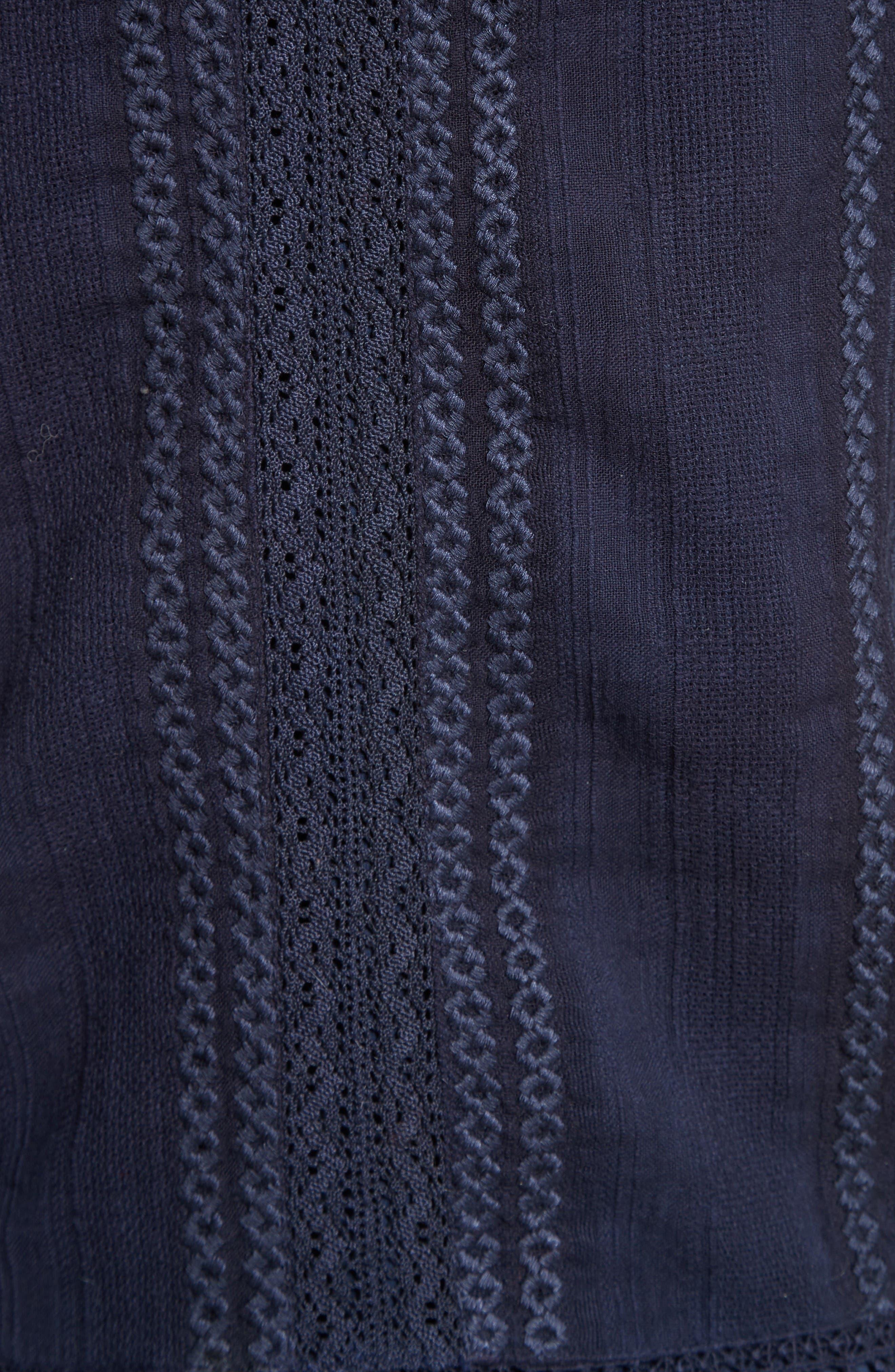 Alternate Image 5  - Alice + Olivia Jules Embroidered Cotton Off the Shoulder Top