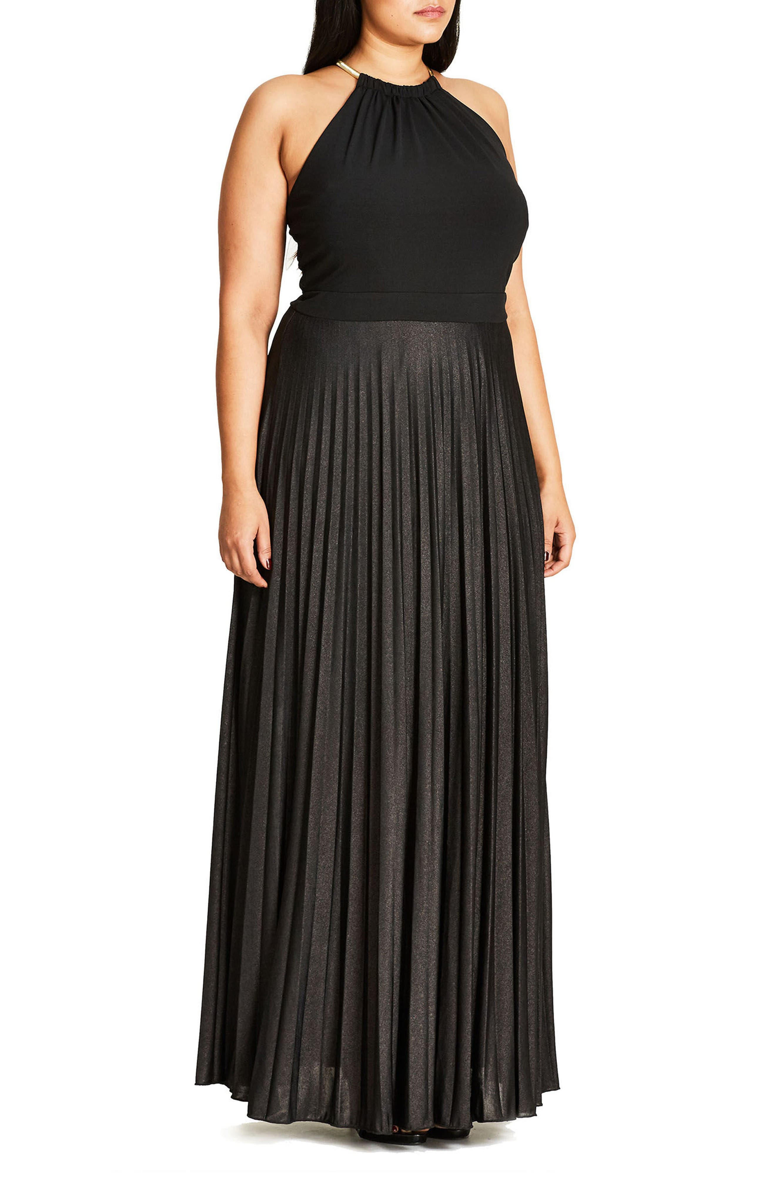 Alternate Image 3  - City Chic Colorblock Maxi Dress (Plus Size)