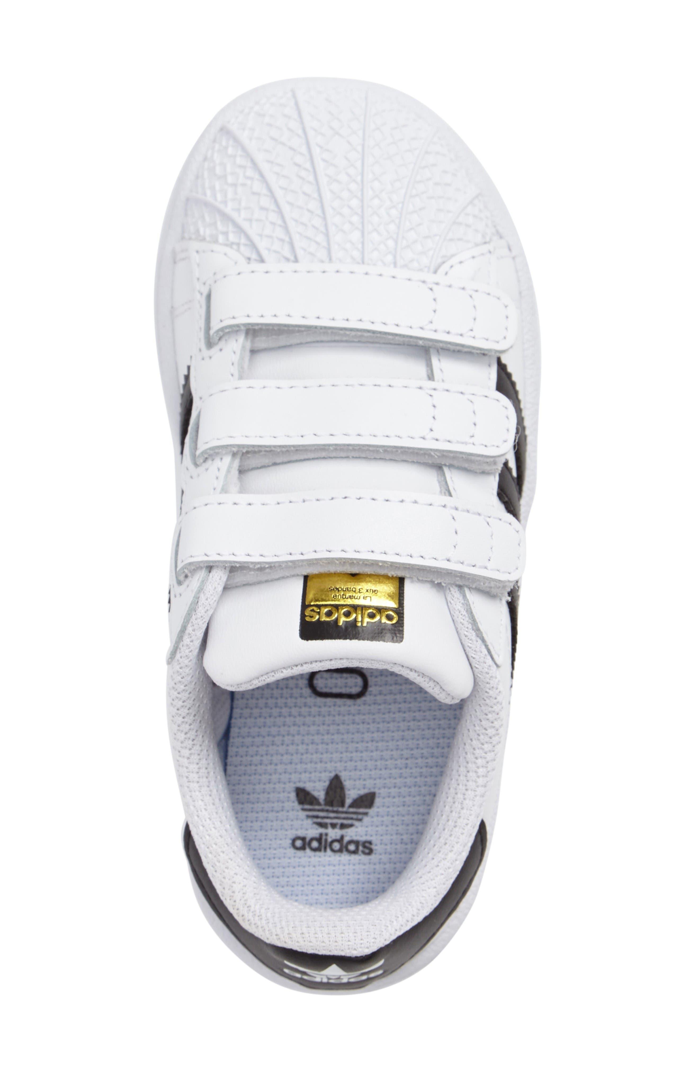 Superstar Foundation Sneaker,                             Alternate thumbnail 3, color,                             White/ Core Black/ White
