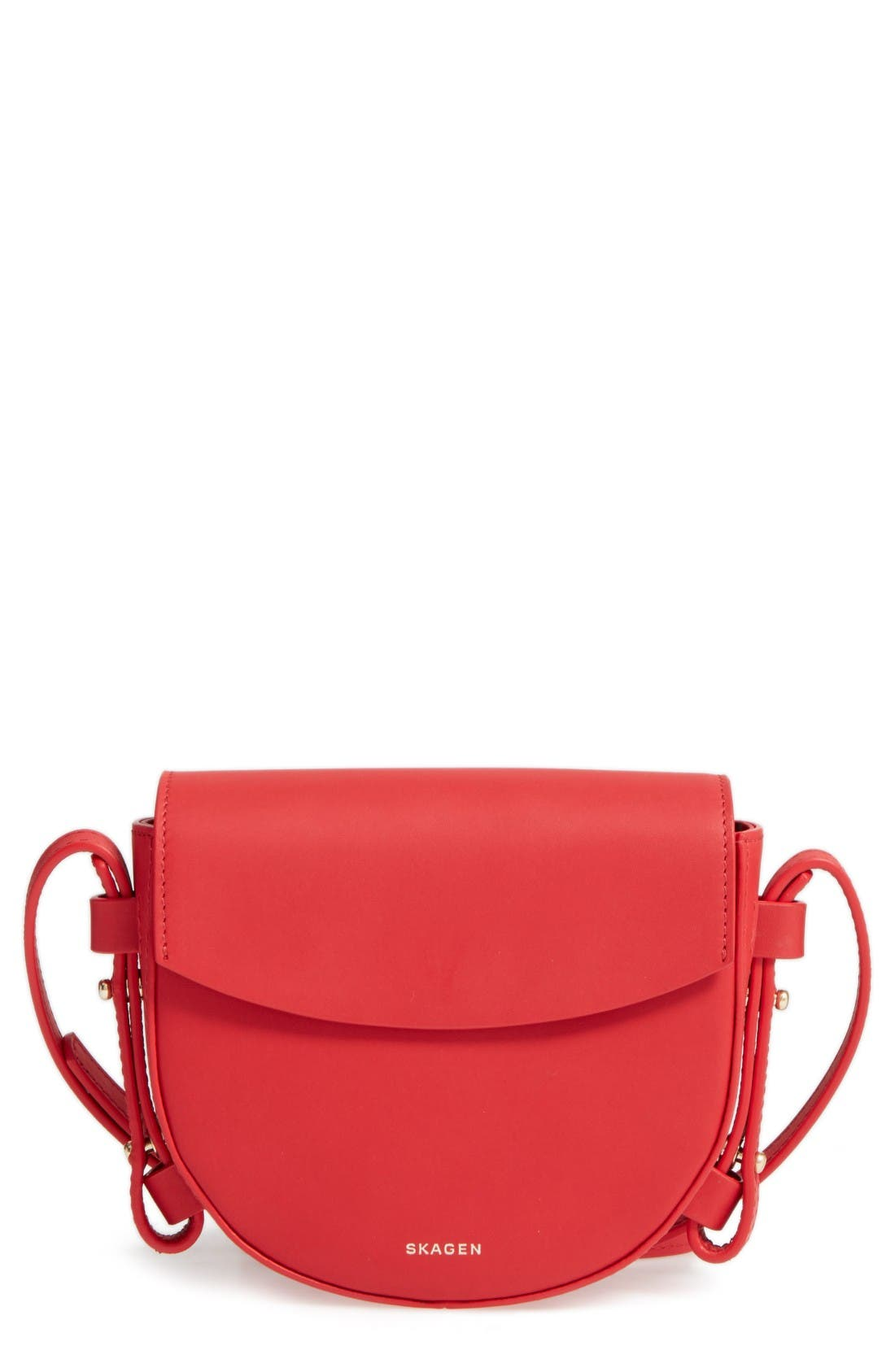 SKAGEN Mini Lobelle Leather Saddle Bag