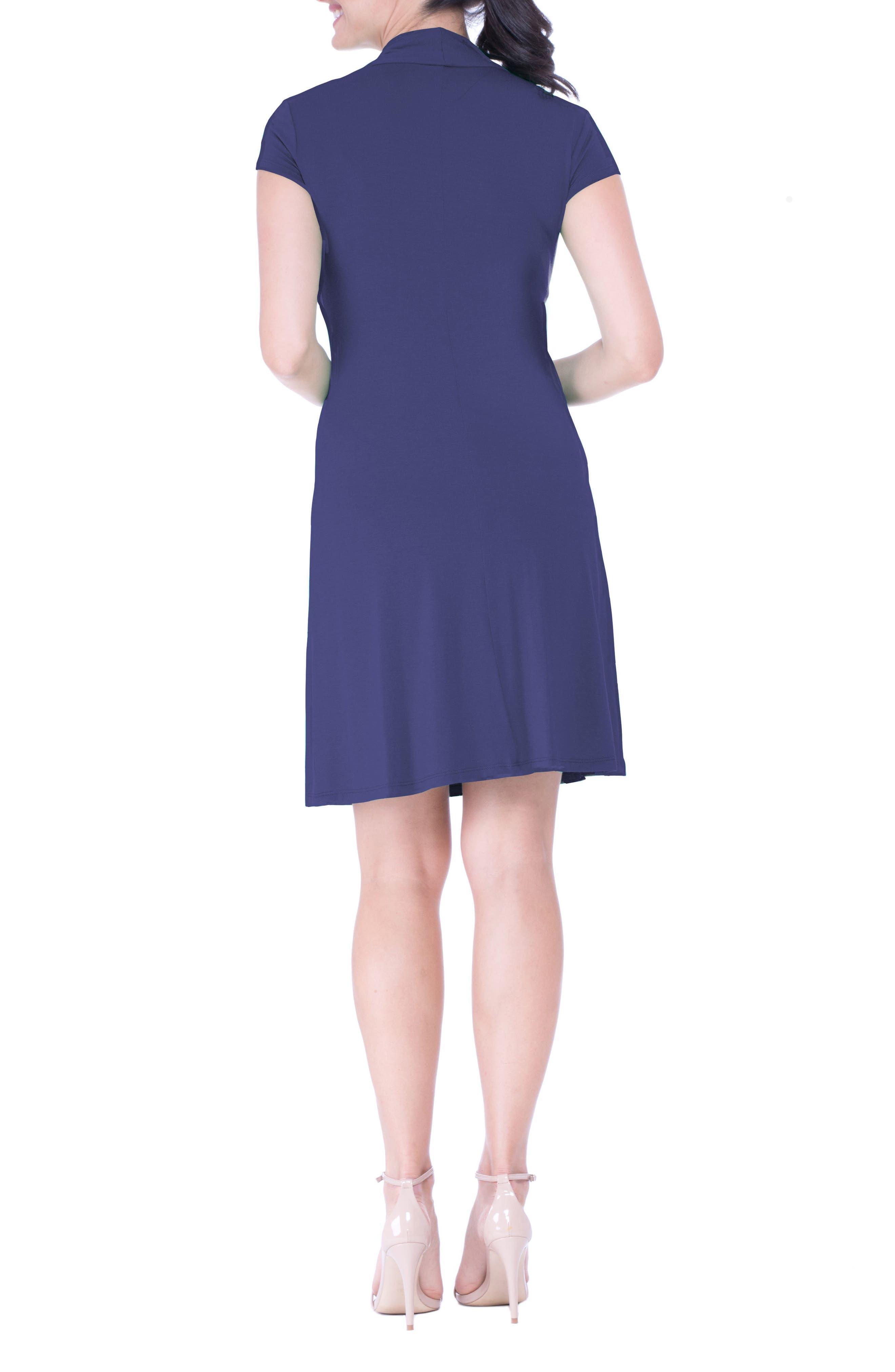 Maternity Wrap Dress,                             Alternate thumbnail 2, color,                             Blue