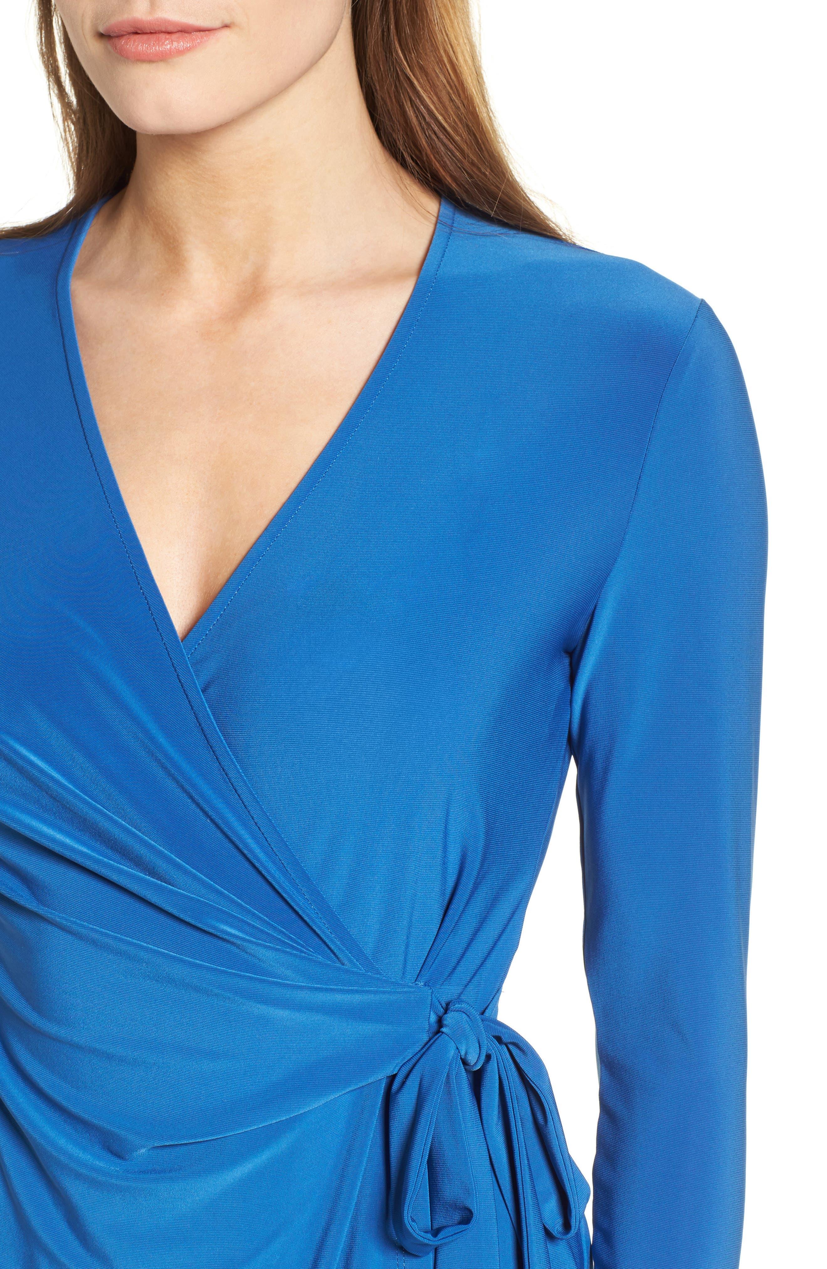 Alternate Image 4  - Anne Klein Stretch Jersey Faux Wrap Dress