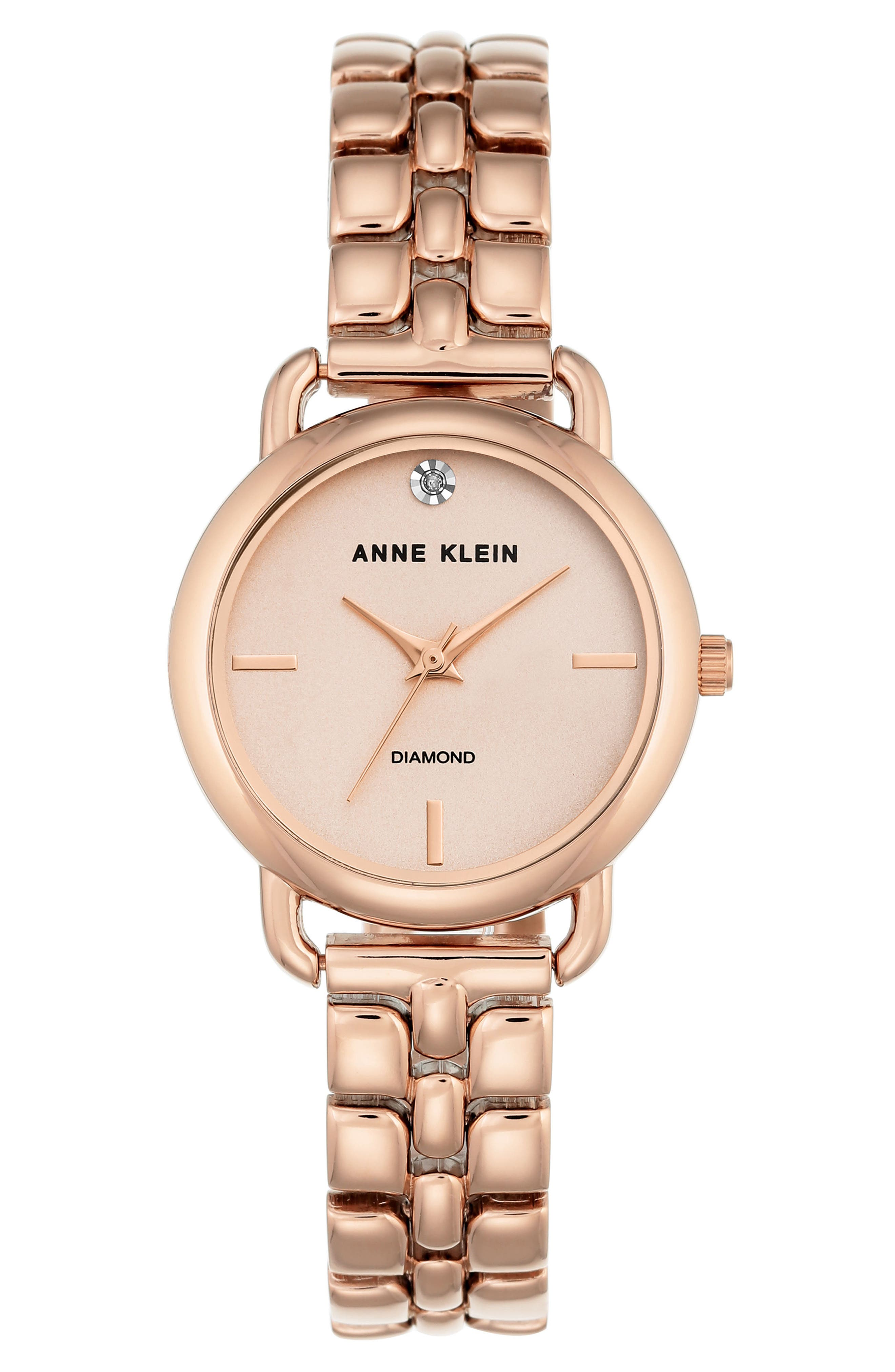 Alternate Image 1 Selected - Anne Klein Diamond Bracelet Watch, 30mm