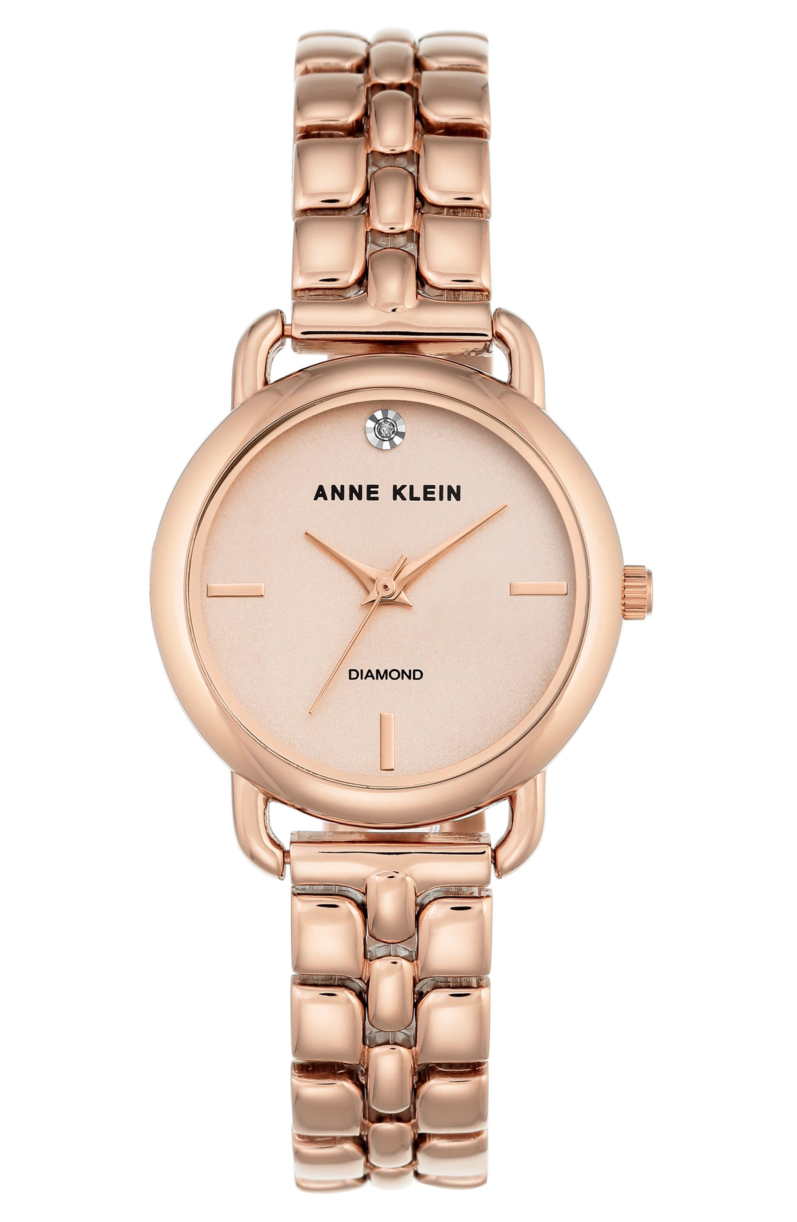 Diamond Bracelet Watch, 30mm,                         Main,                         color, Rose Gold