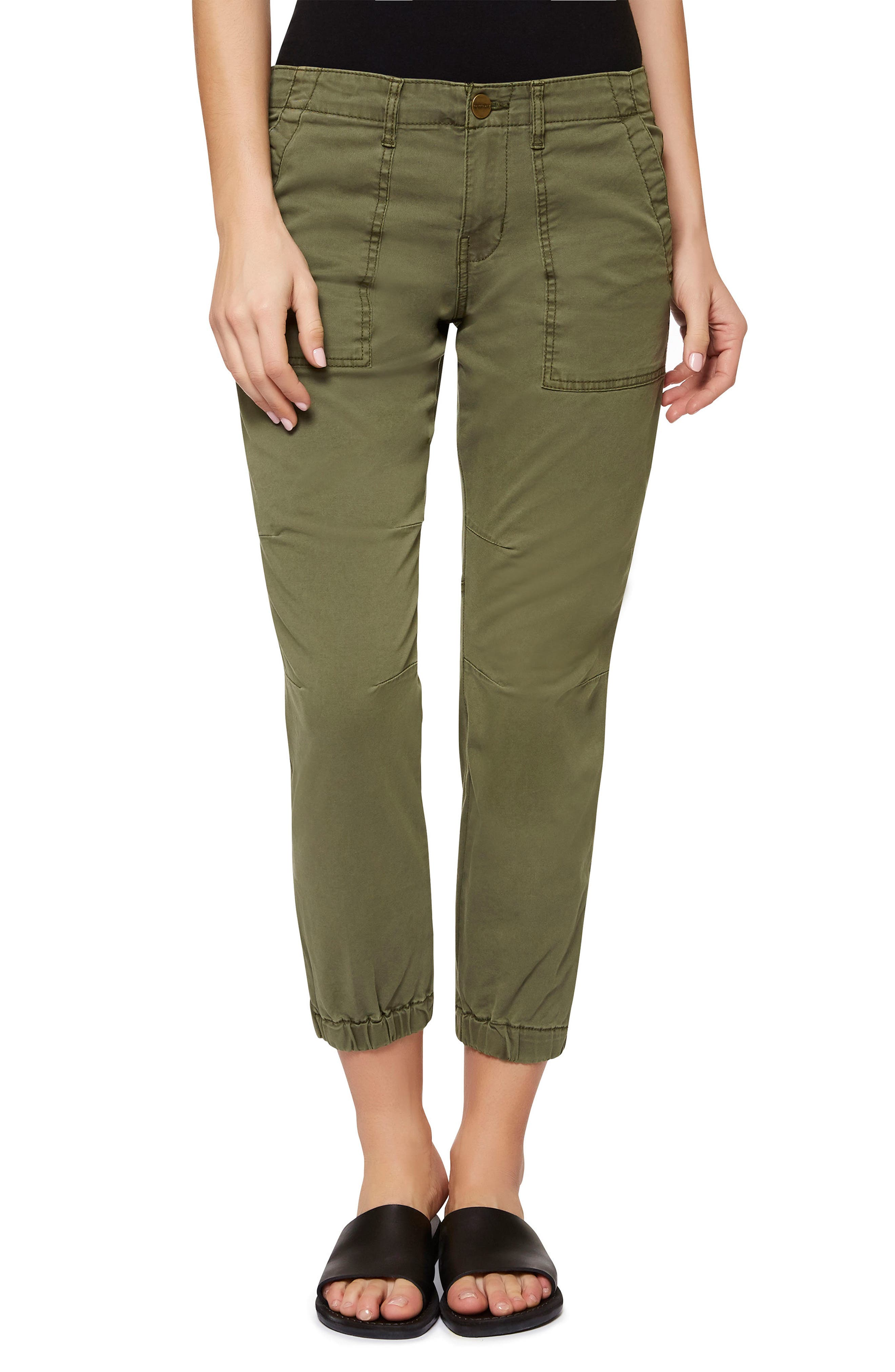 'Peace Trooper' Crop Cargo Pants,                         Main,                         color, Cadet
