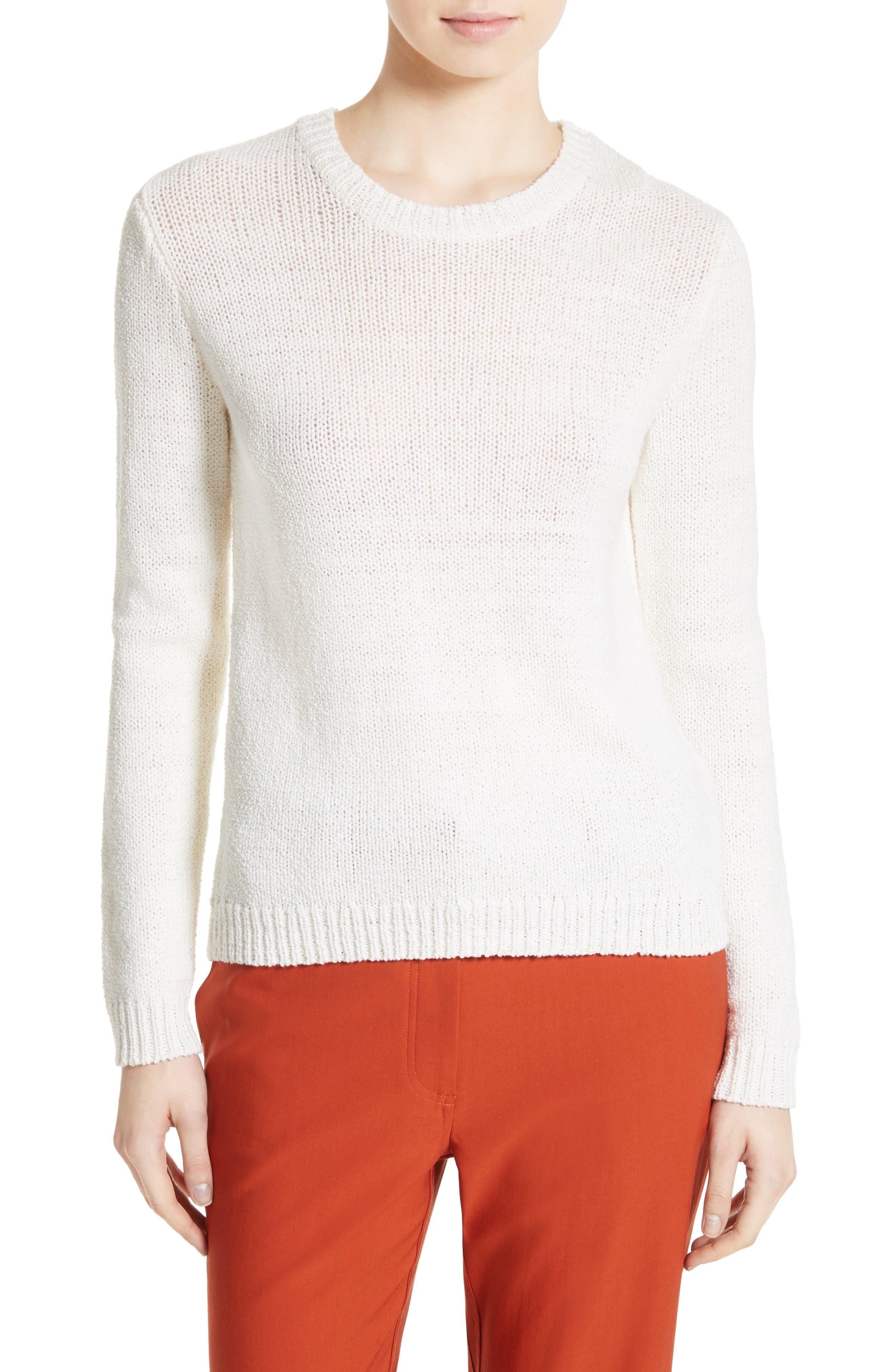 THEORY Yulia Summer Bouclé Merino Wool Sweater