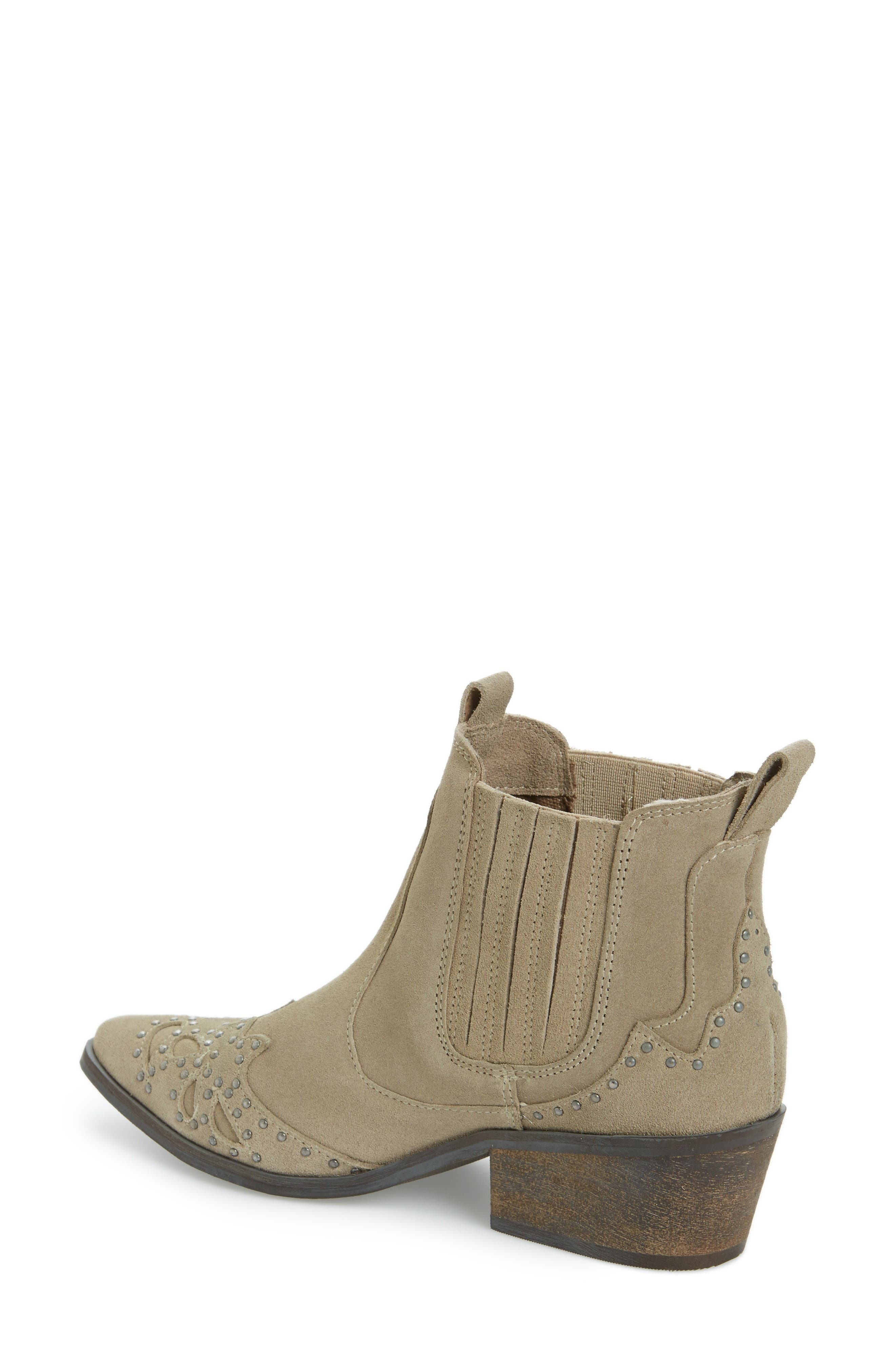 Backstage Bootie,                             Alternate thumbnail 2, color,                             Taupe Leather