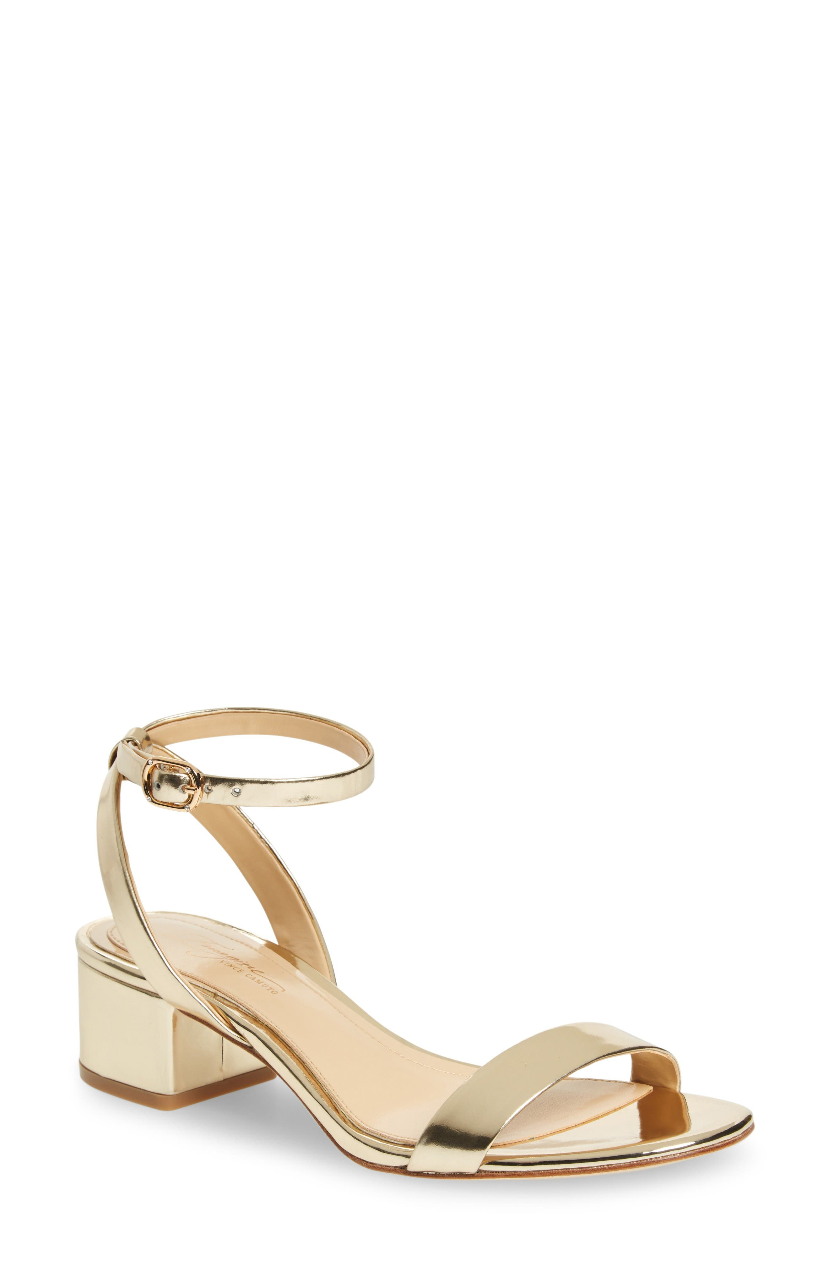 Imagine Vince Camuto Bavel Sandal,                             Main thumbnail 1, color,                             Soft Gold Leather