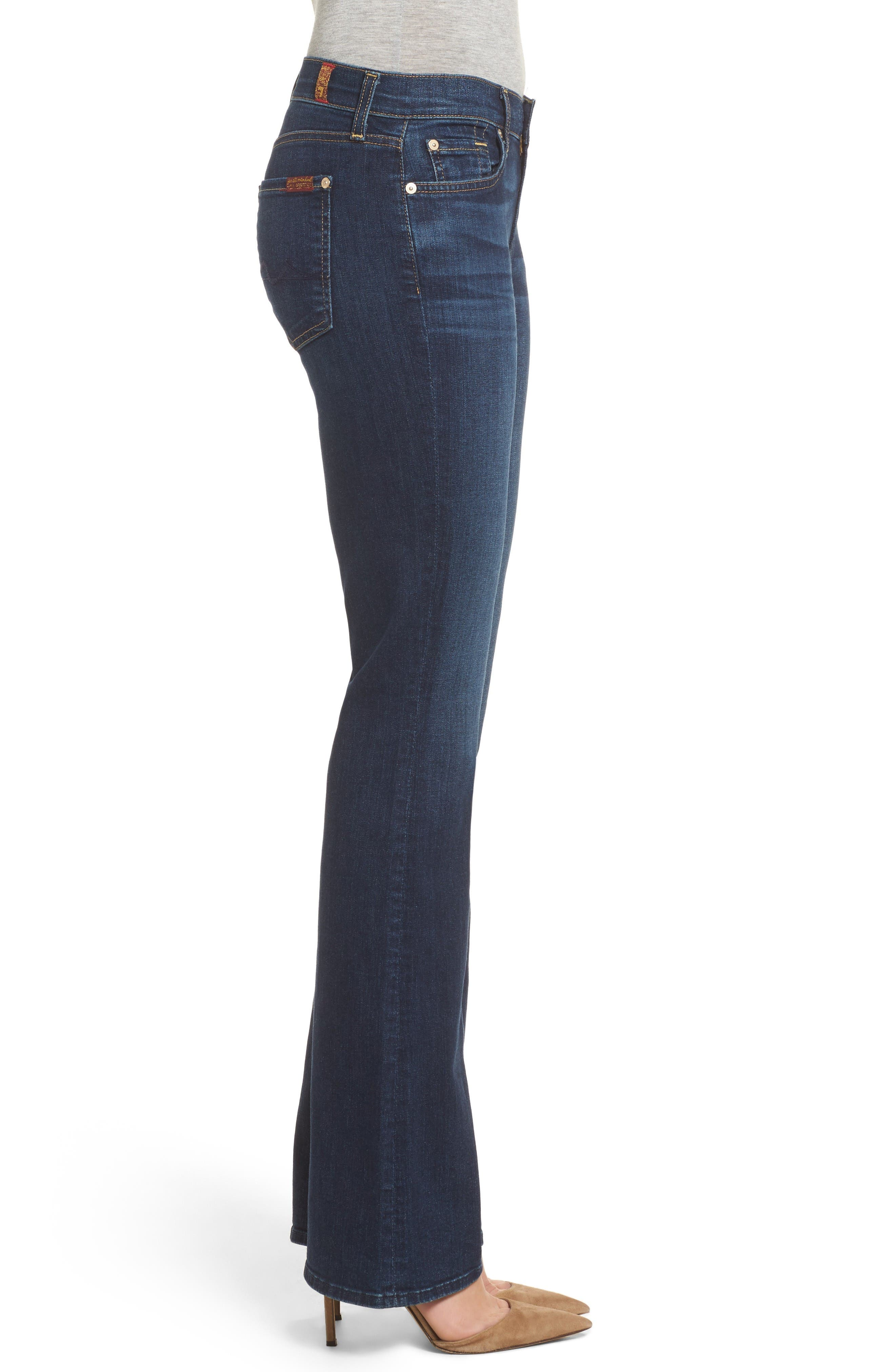 Alternate Image 3  - 7 For All Mankind® Tailorless - Icon Bootcut Jeans (Santiago Canyon) (Short)