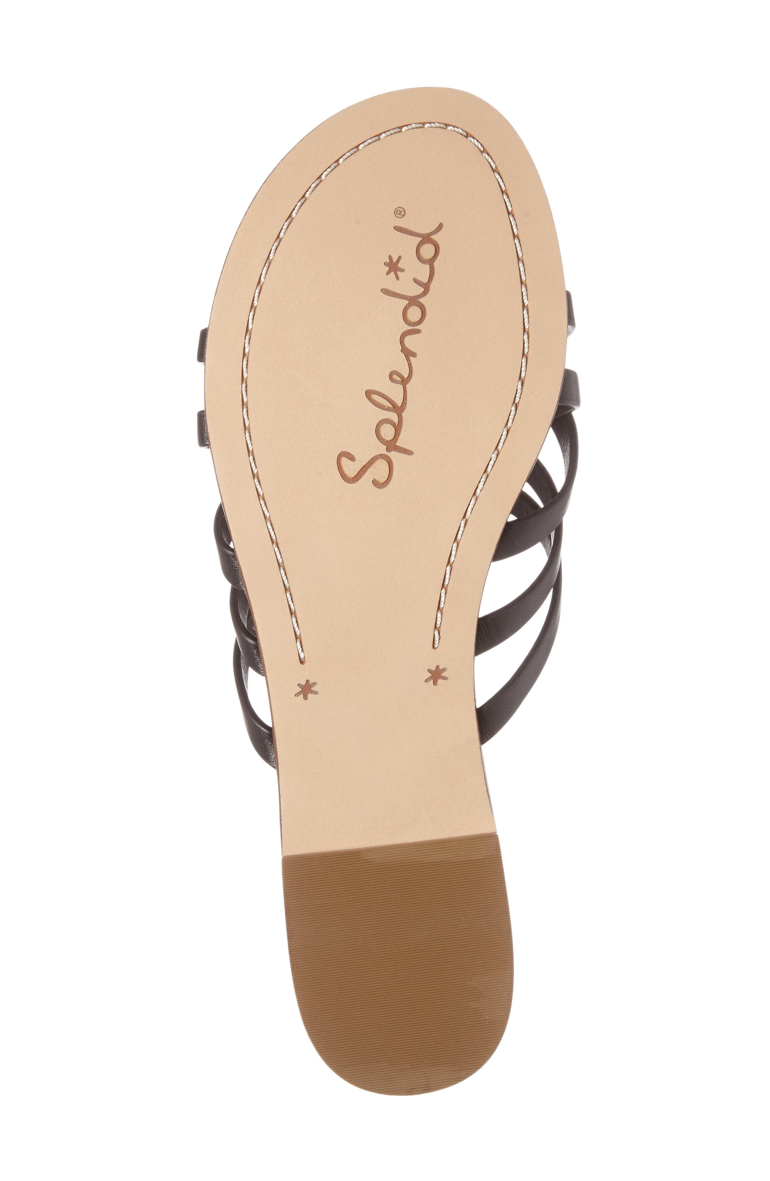 Jojo Slide Sandal,                             Alternate thumbnail 4, color,                             Black Leather
