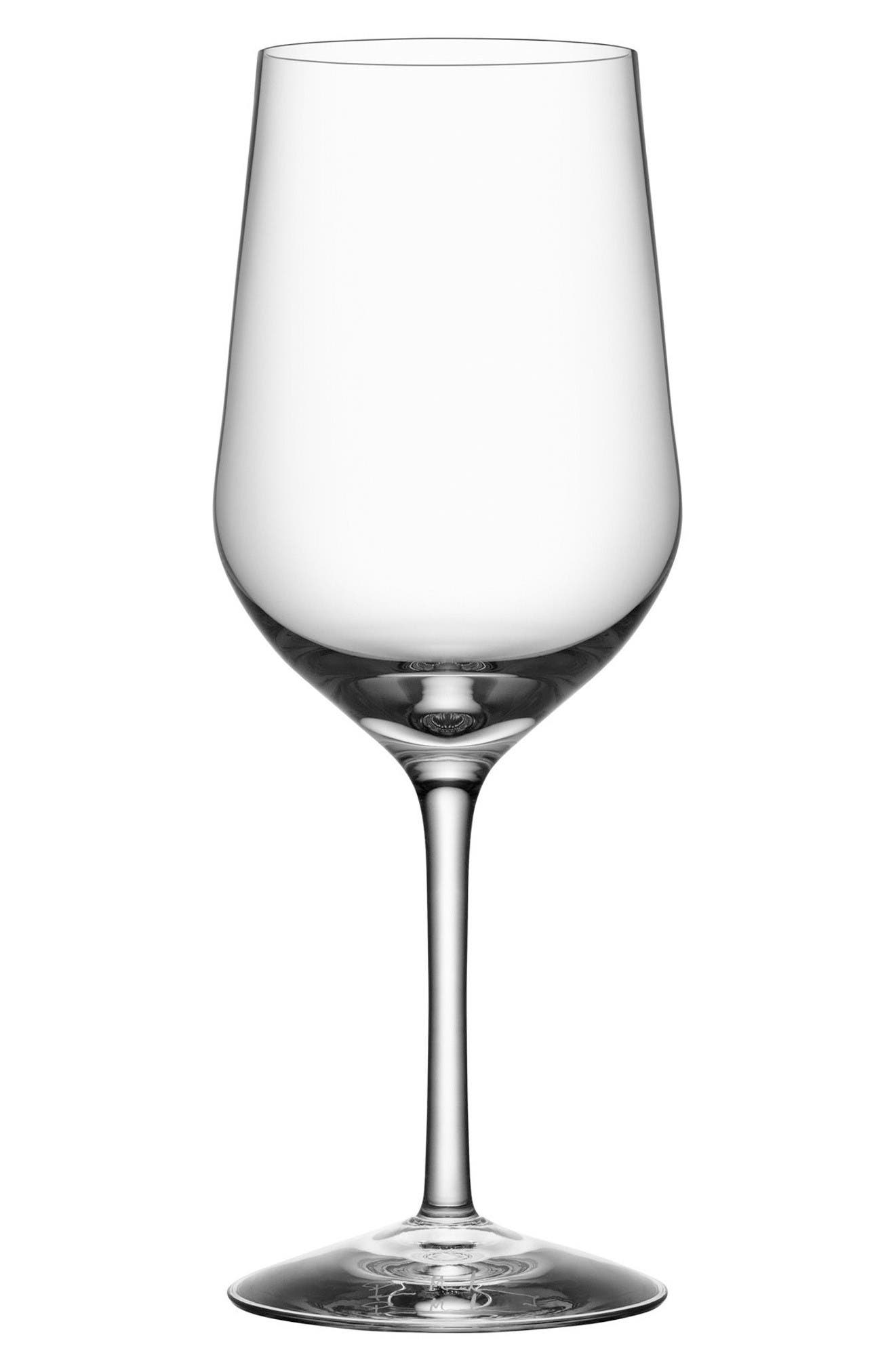 Morberg Collection Set of 4 Crystal Red Wine Glasses,                         Main,                         color, Clear