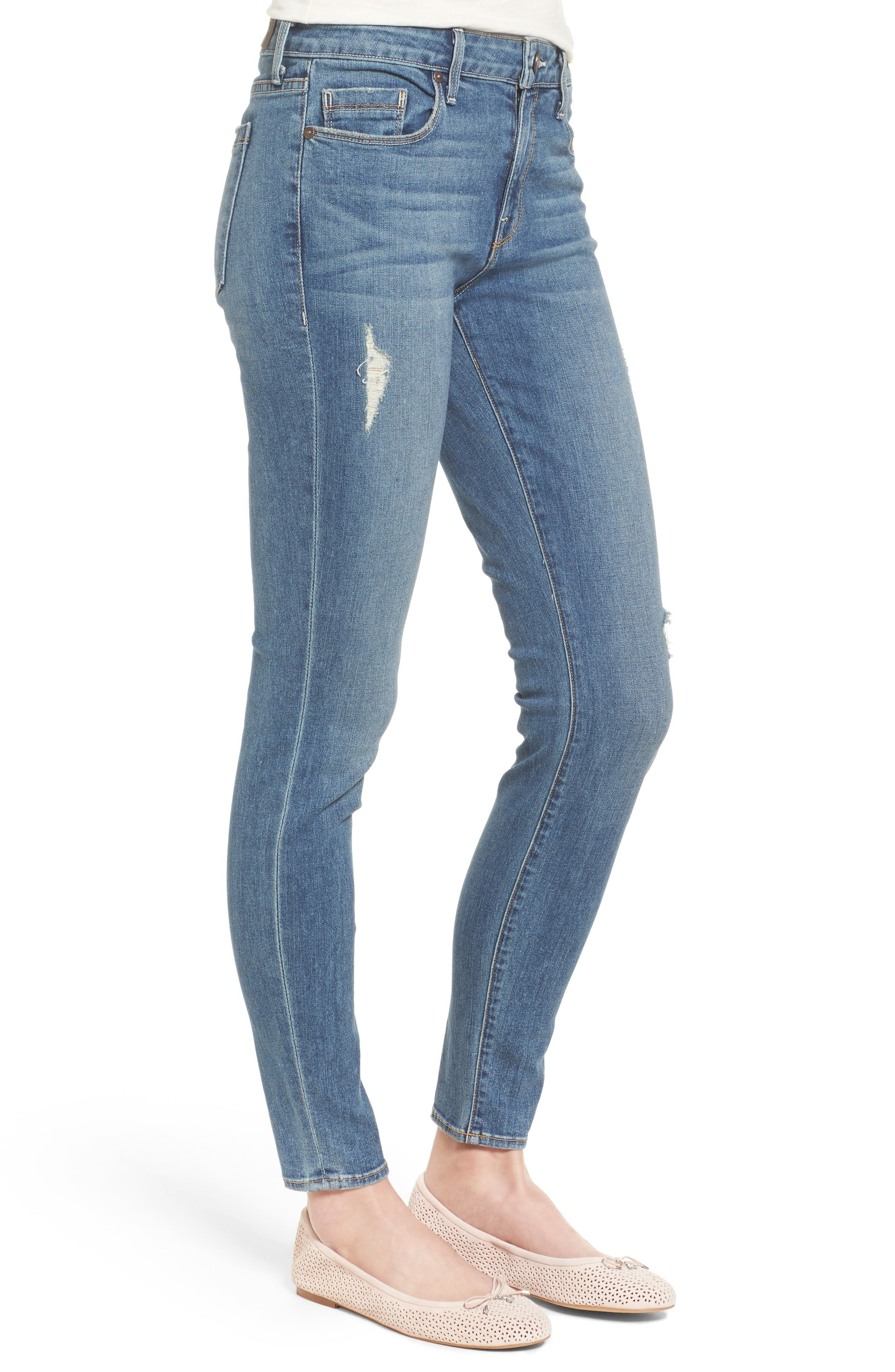 Ava Stretch Skinny Jeans,                             Alternate thumbnail 3, color,                             Liverpool