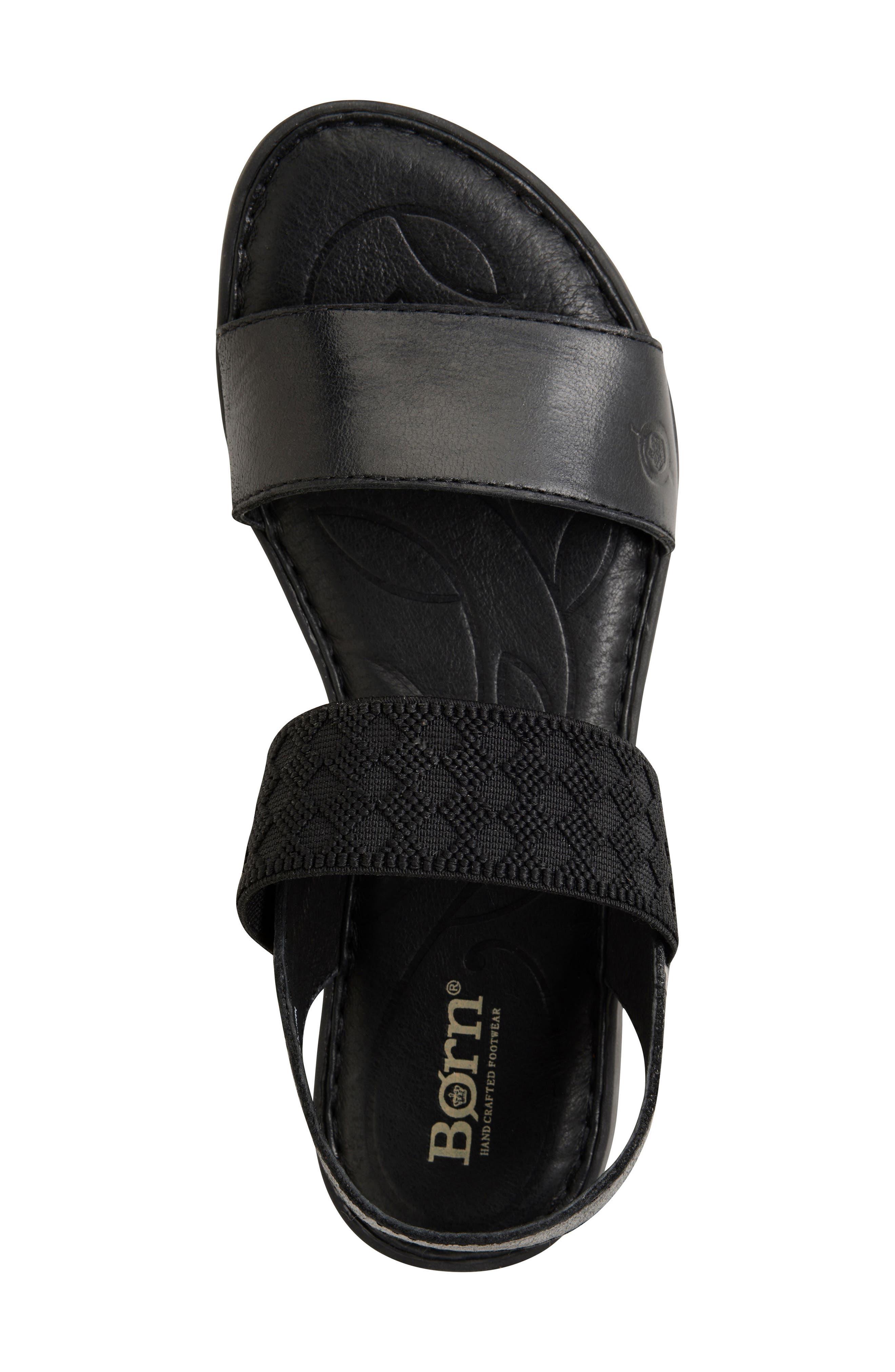 Parsons Sandal,                             Alternate thumbnail 3, color,                             Black Full Grain Leather