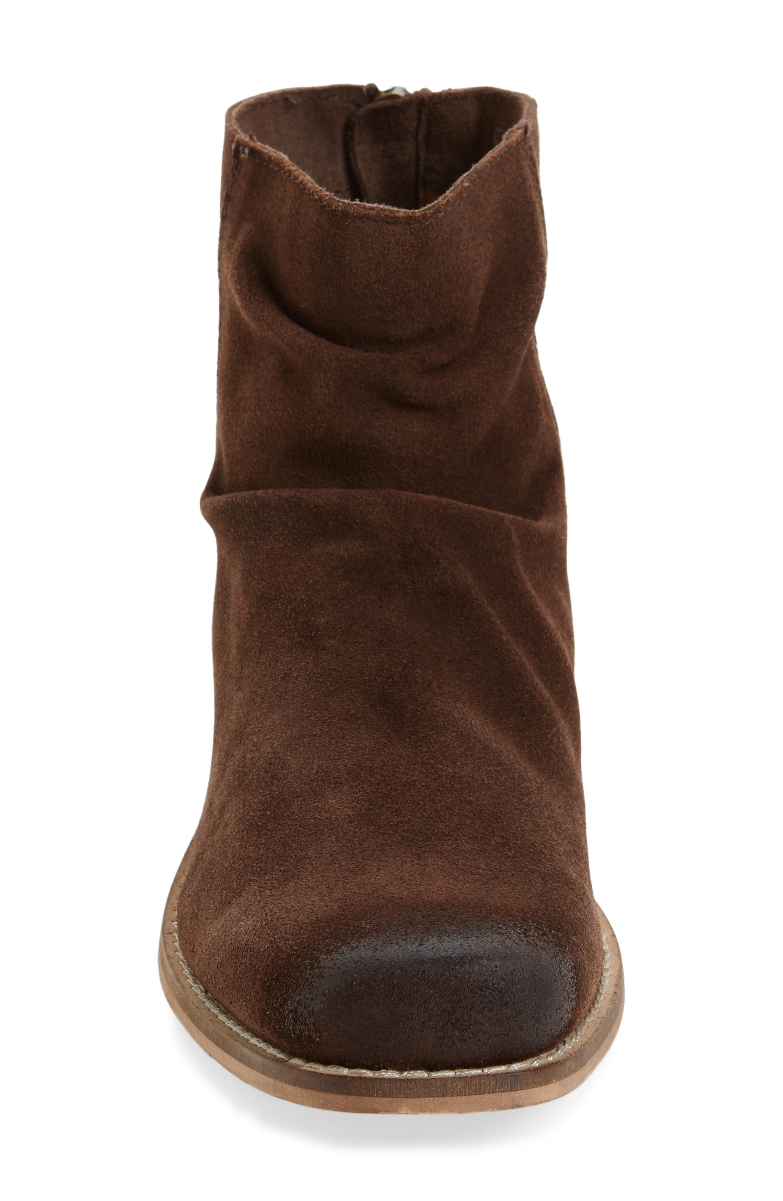 Unbridled Sloan Slouchy Bootie,                             Alternate thumbnail 3, color,                             Dark Brown Leather