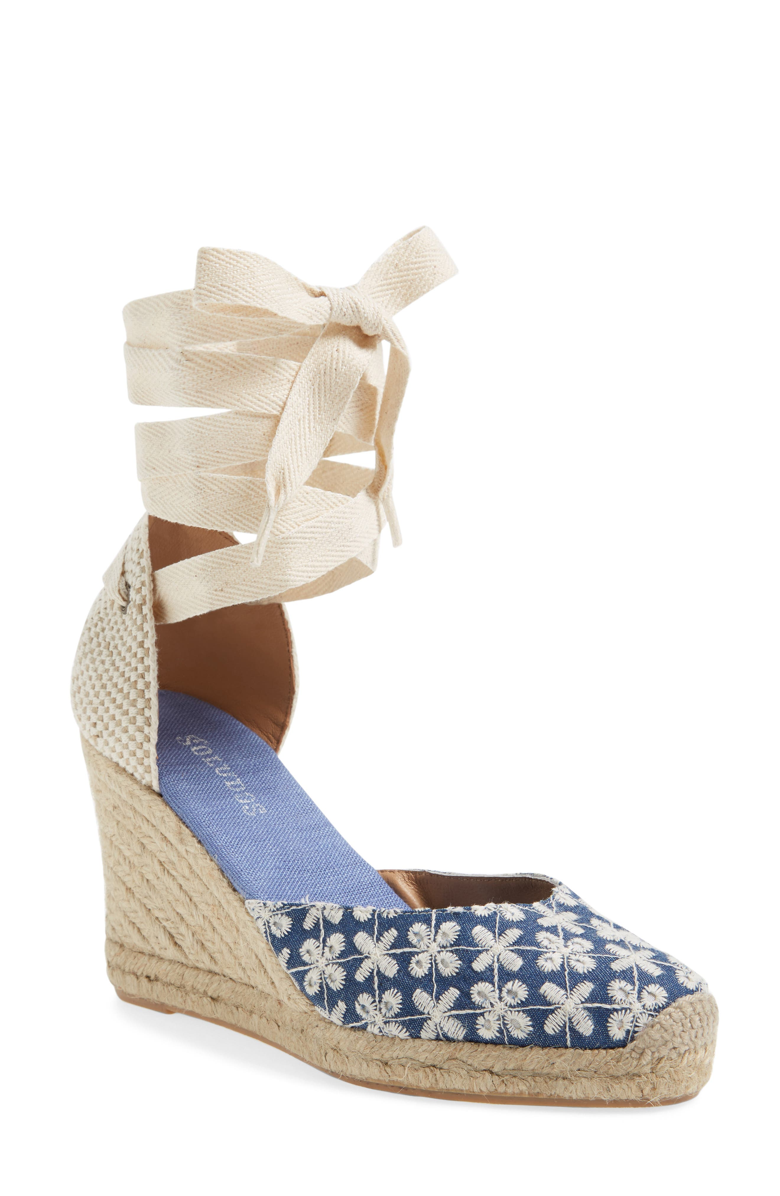 Alternate Image 1 Selected - Soludos Espadrille Wedge Sandal (Women)