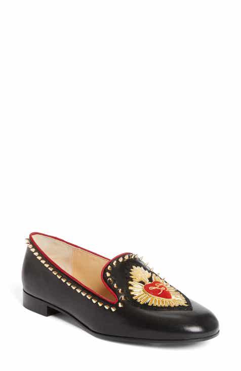 Women s Christian Louboutin Flat Loafers, Slip-Ons   Moccasins ... b3e7007ffbe5