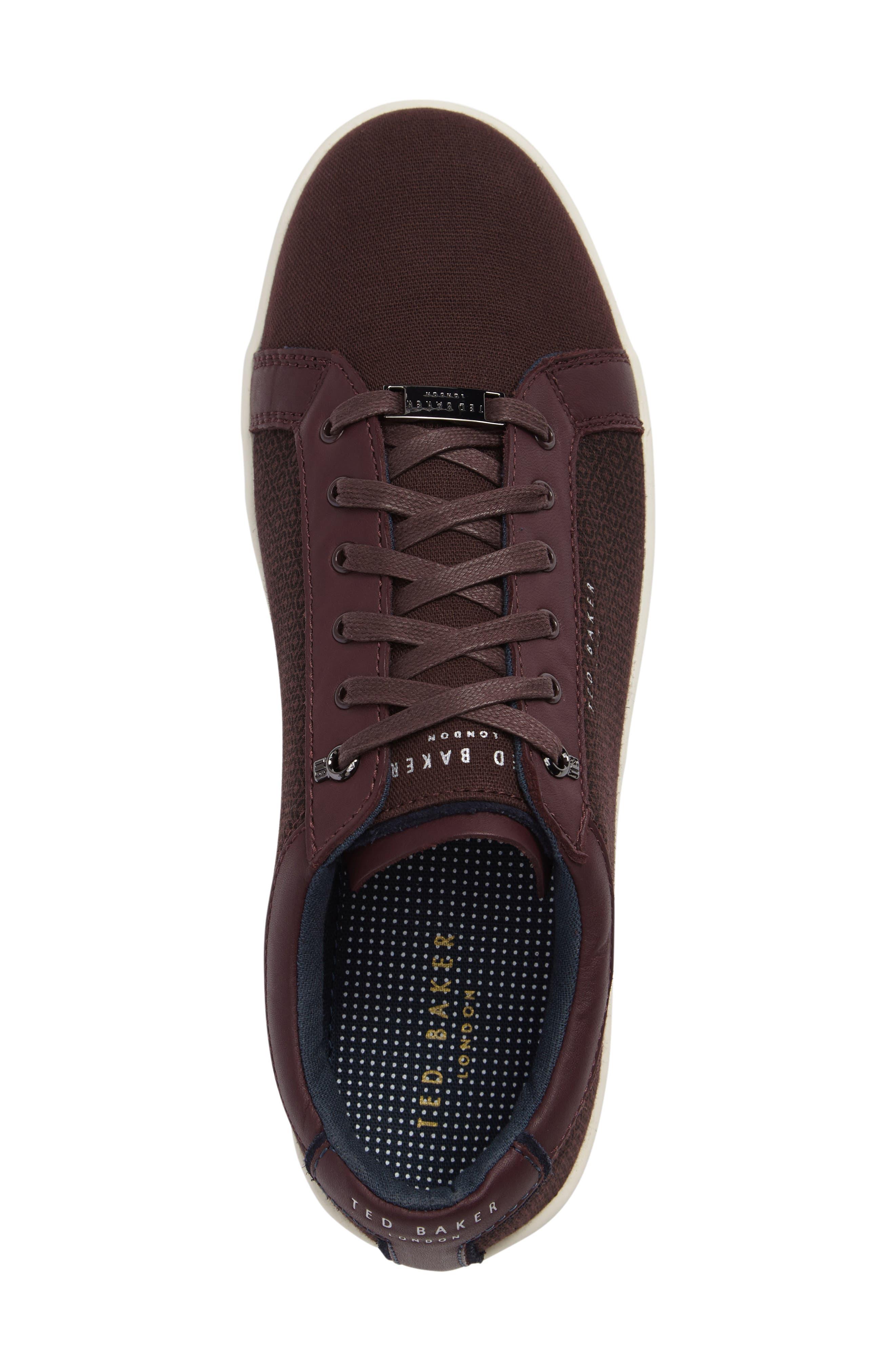 Ternur Geo Print Sneaker,                             Alternate thumbnail 3, color,                             Dark Red