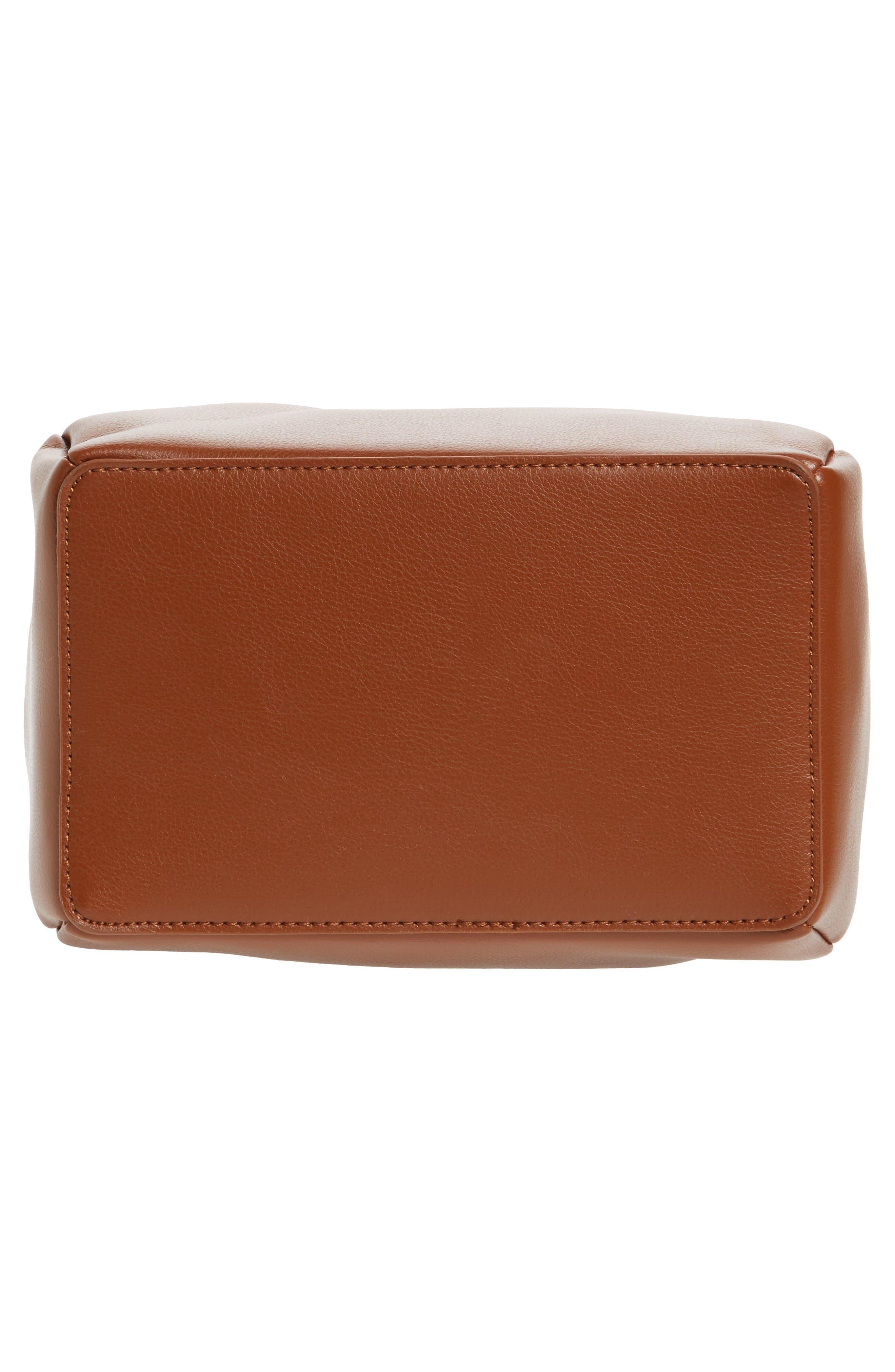 Dahlia Faux Leather Bucket Bag,                             Alternate thumbnail 6, color,                             Cognac