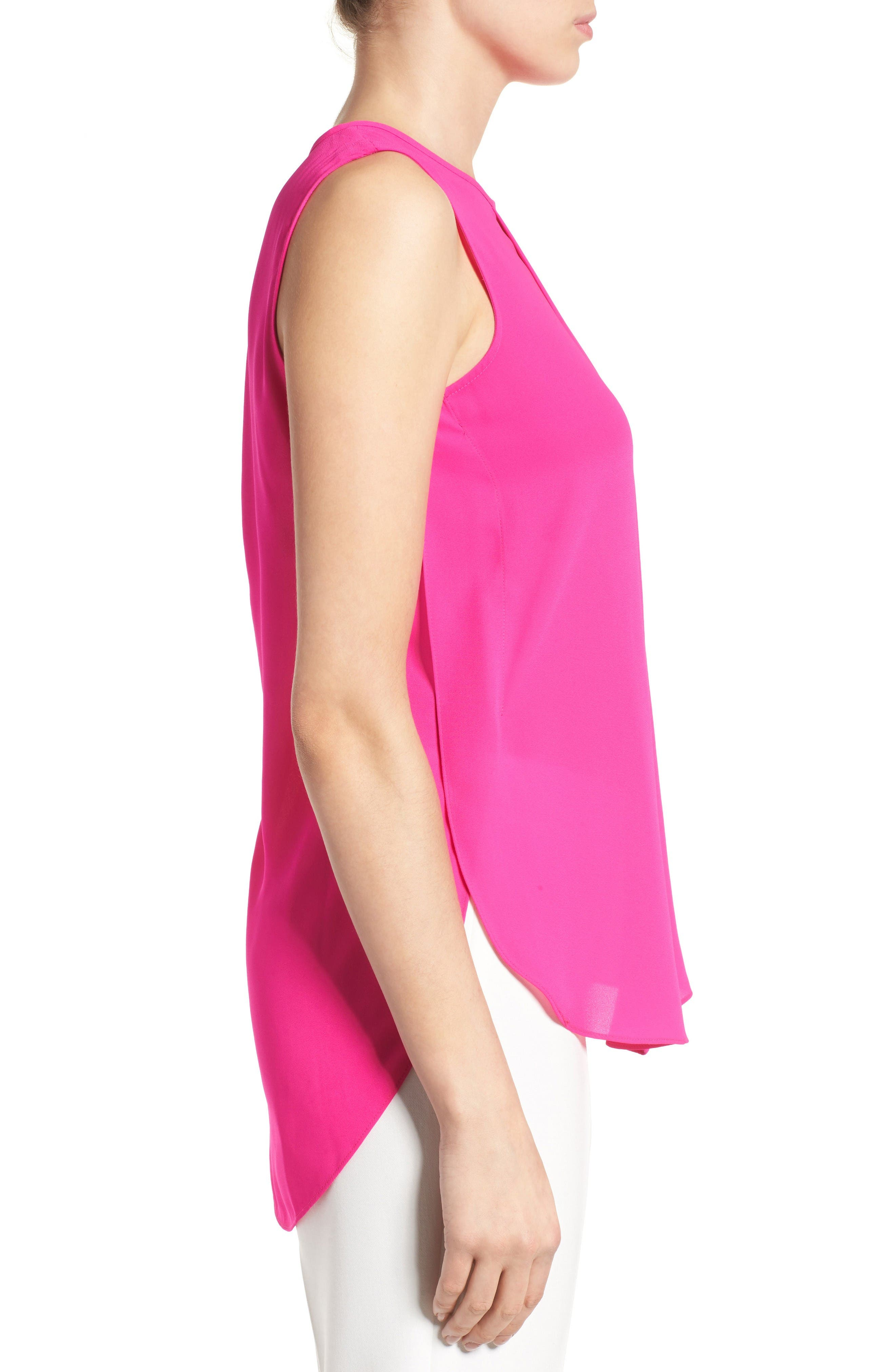 Alternate Image 3  - Vince Camuto Center Pleat Sleeveless Blouse