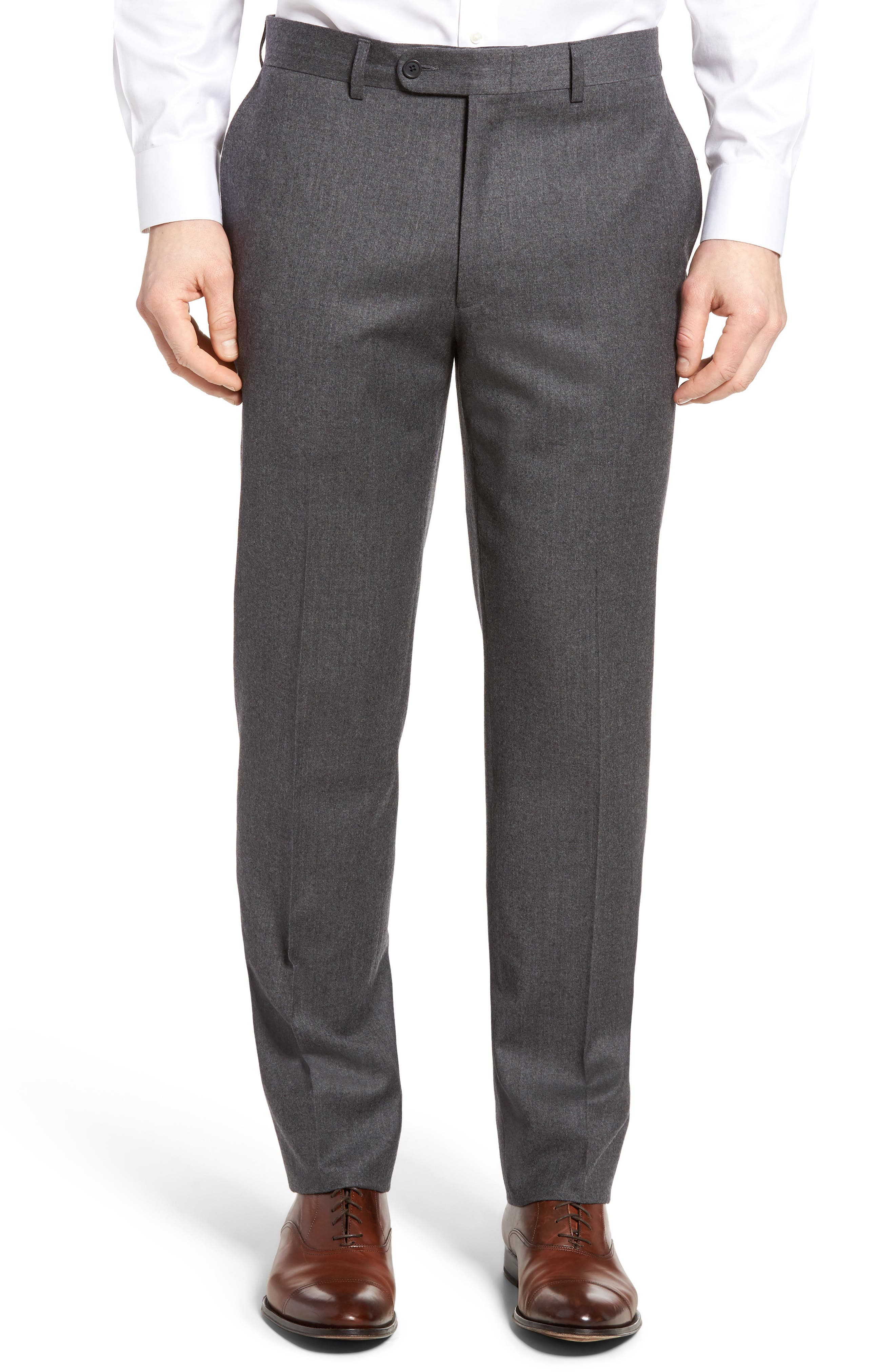Alternate Image 1 Selected - Bensol Flannel Wool Trousers