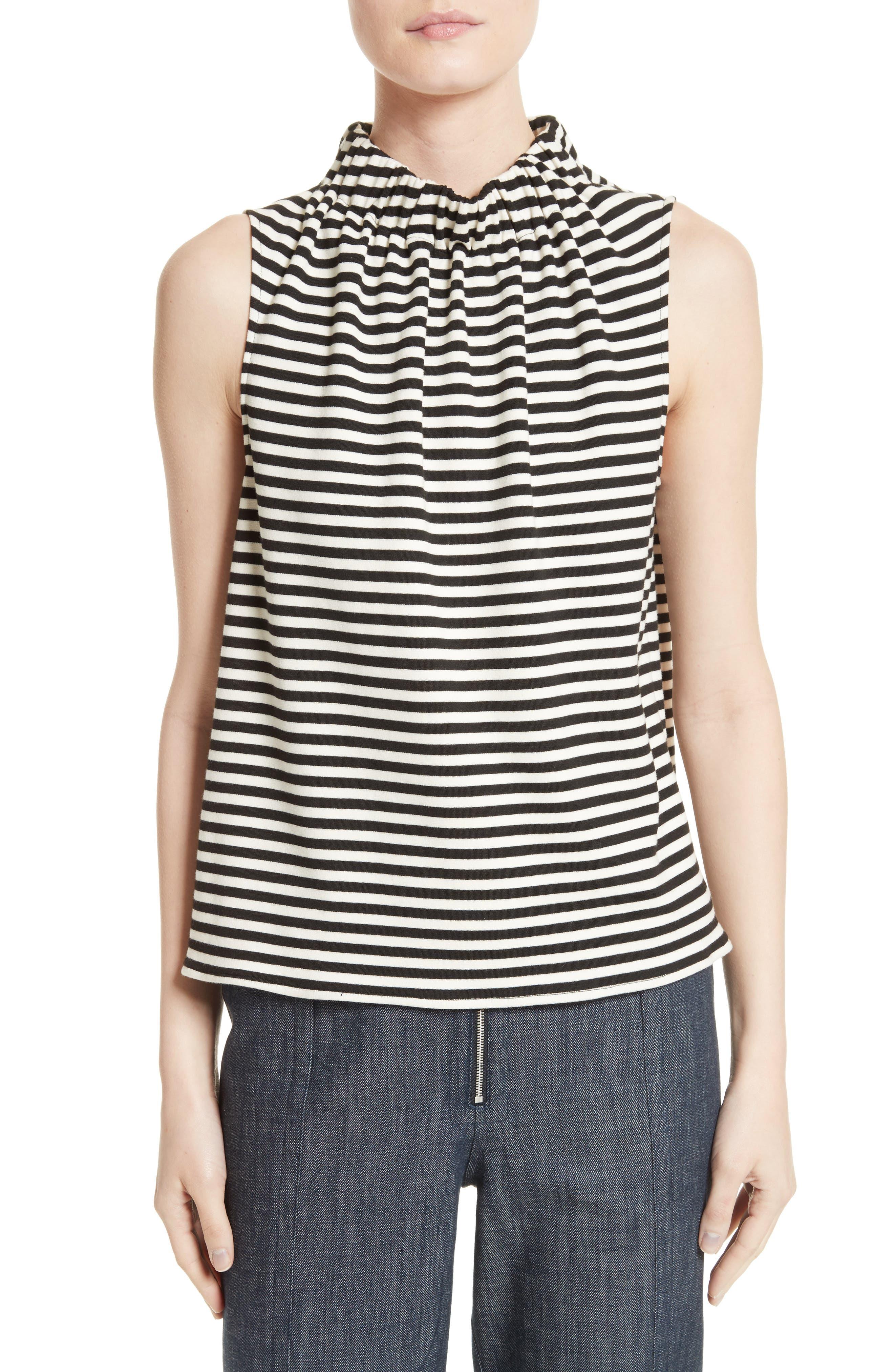 Alternate Image 1 Selected - Tibi Ren Stripe Top