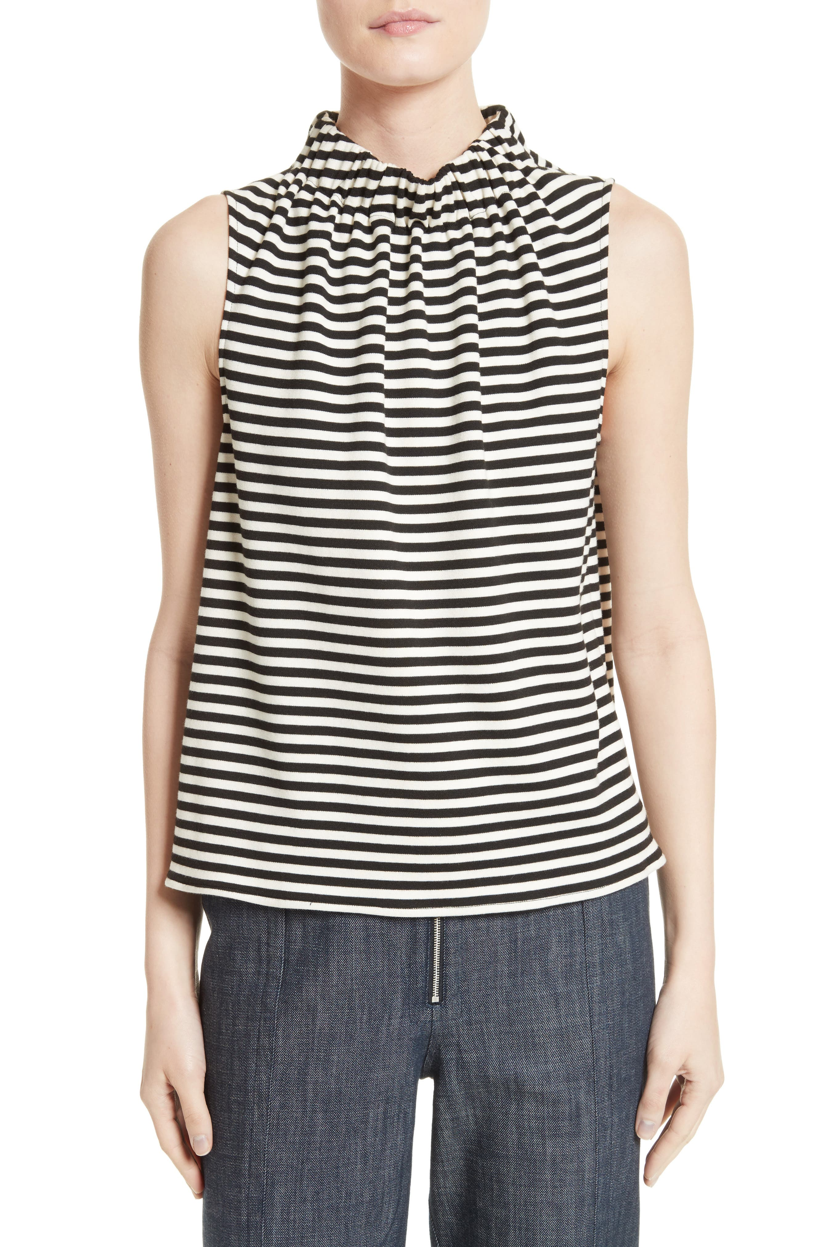 Tibi Ren Stripe Top