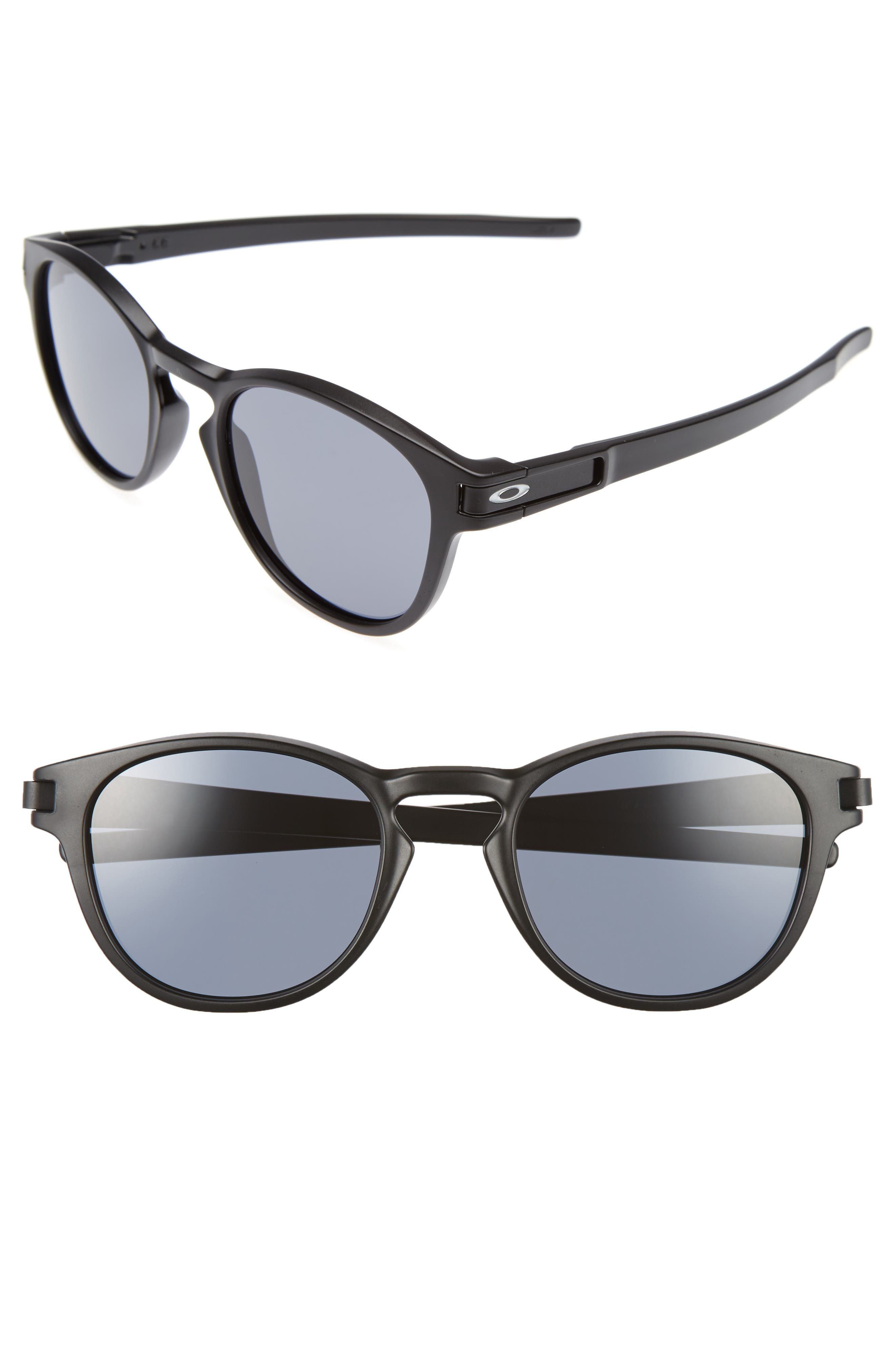 Latch 53mm Sunglasses,                             Main thumbnail 1, color,                             Black