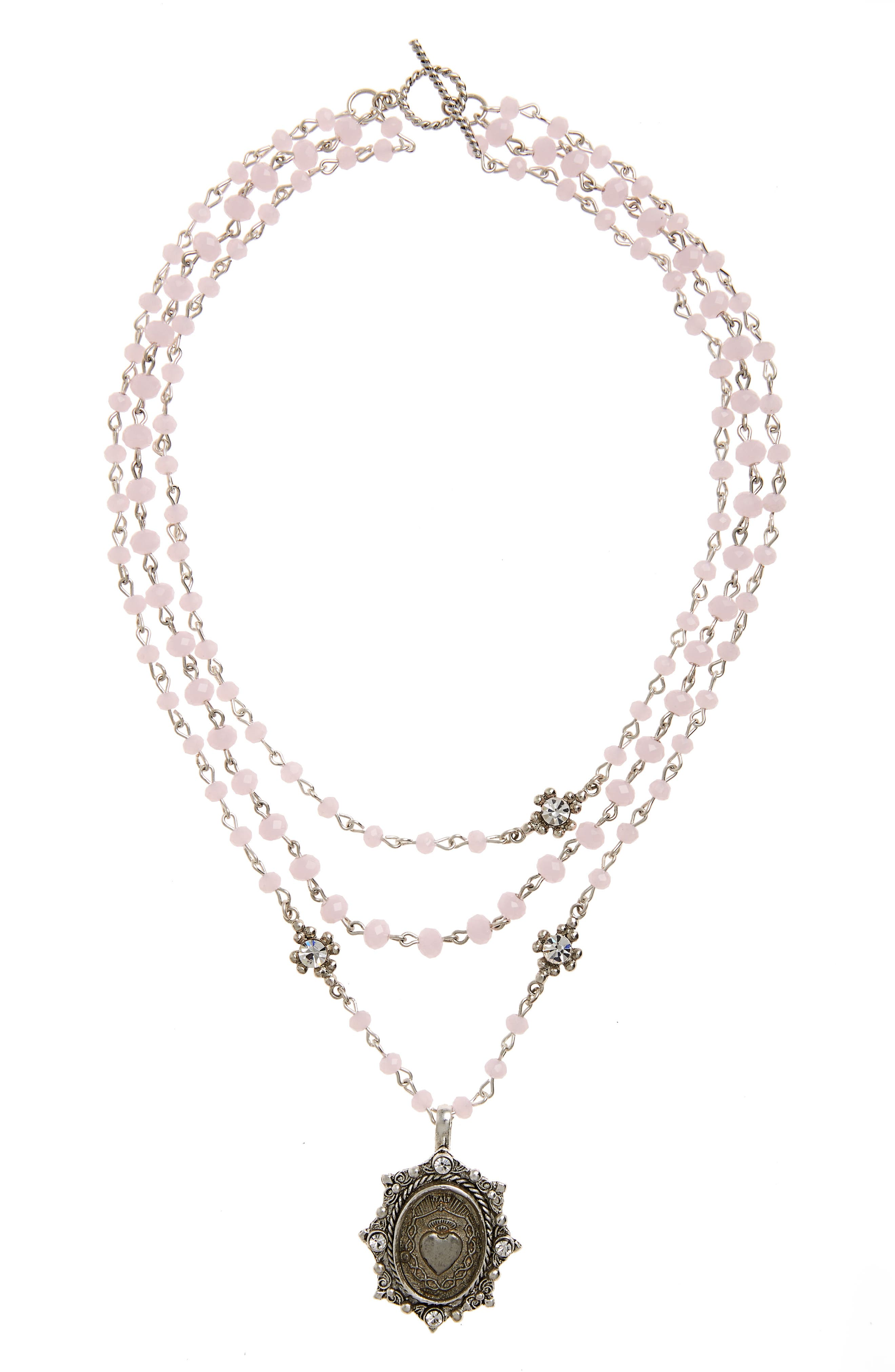 Virgins Saints & Angels Heart Magdalena Multistrand Necklace