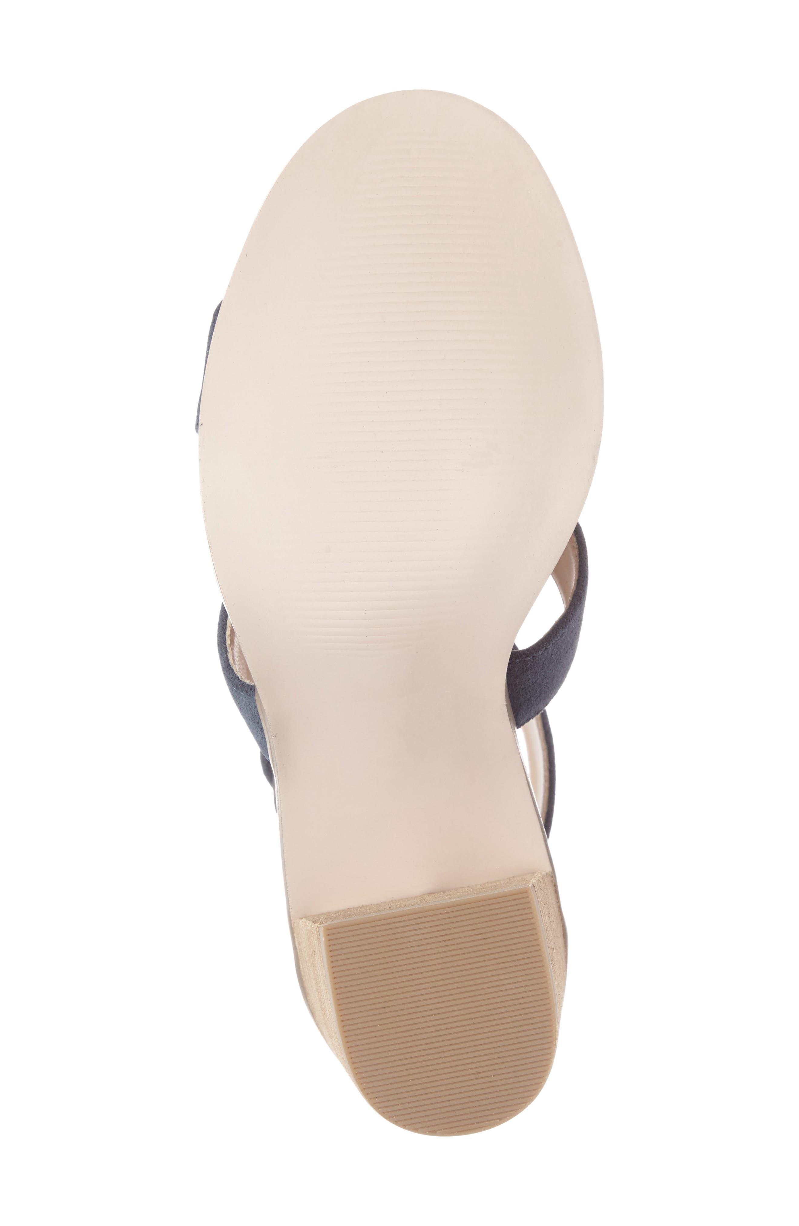 'Delilah' Fringe Sandal,                             Alternate thumbnail 4, color,                             Vista Blue