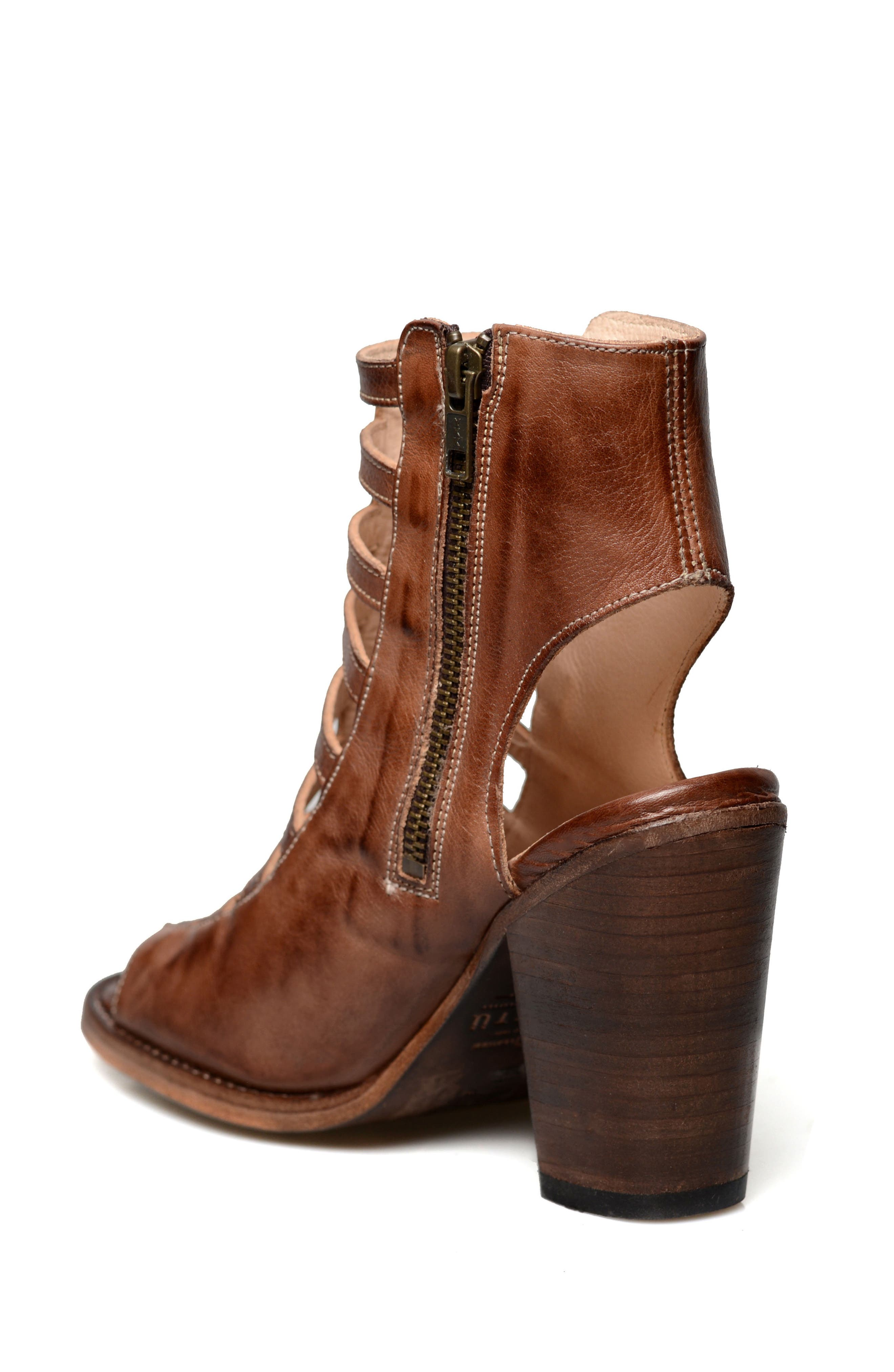 Occam Caged Sandal,                             Alternate thumbnail 2, color,                             Teak Rustic Leather