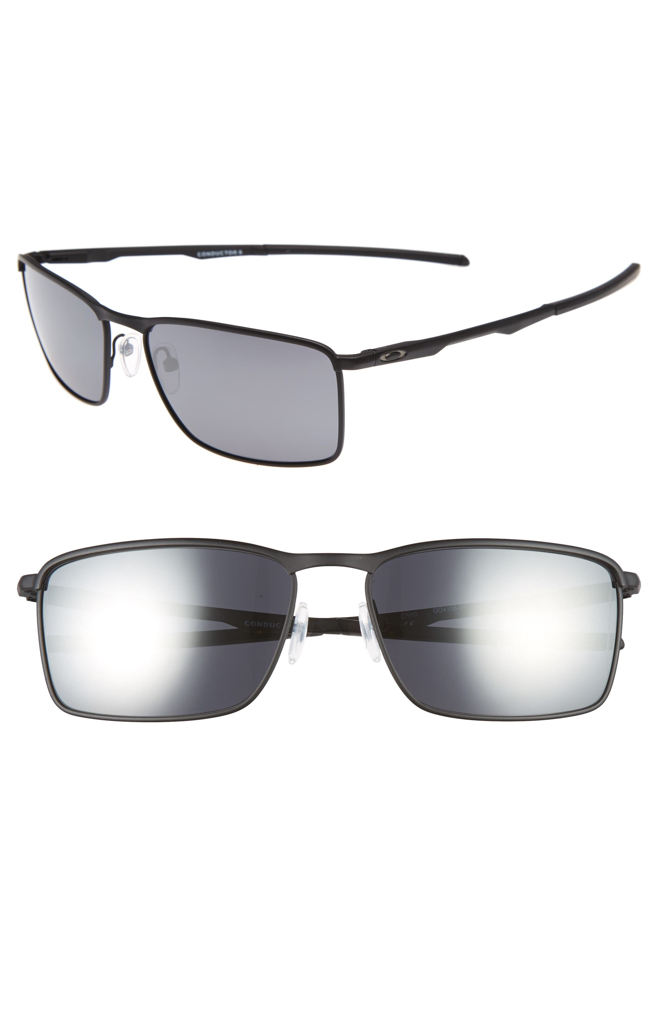 2b4847f2f81 Oakley Conductor 6 58Mm Polarized Sunglasses - Black