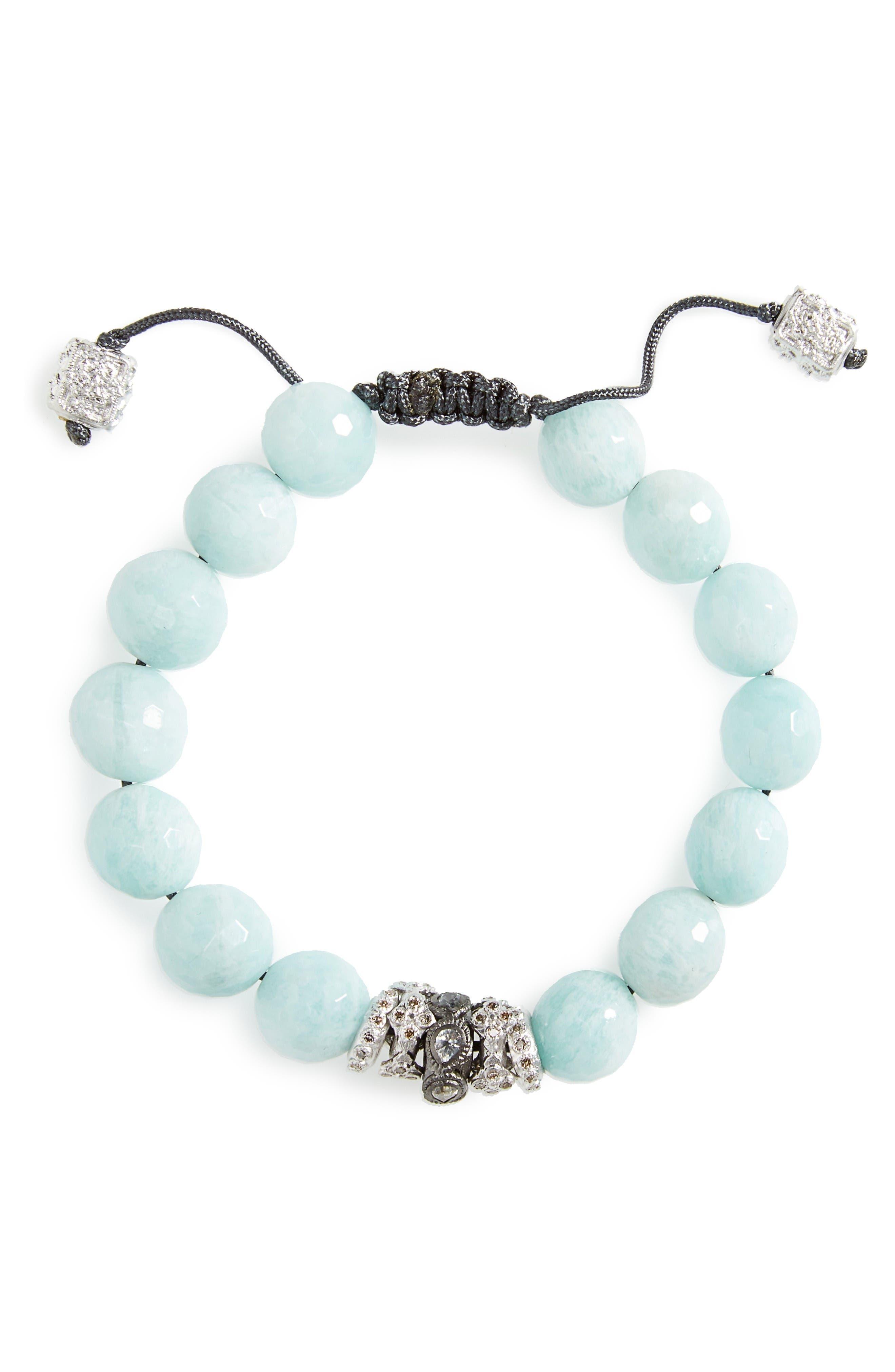 ARMENTA New World Diamond & Amazonite Bracelet