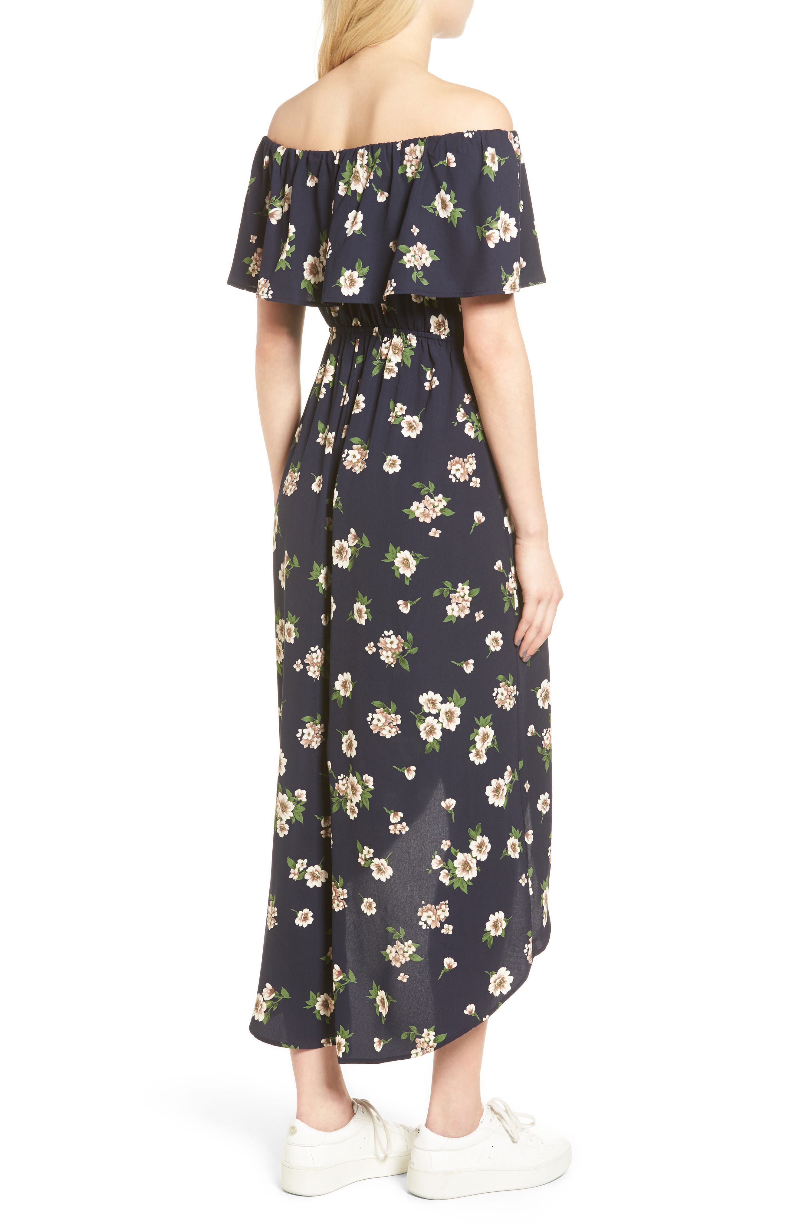Alternate Image 2  - Soprano Floral Print Off the Shoulder Dress