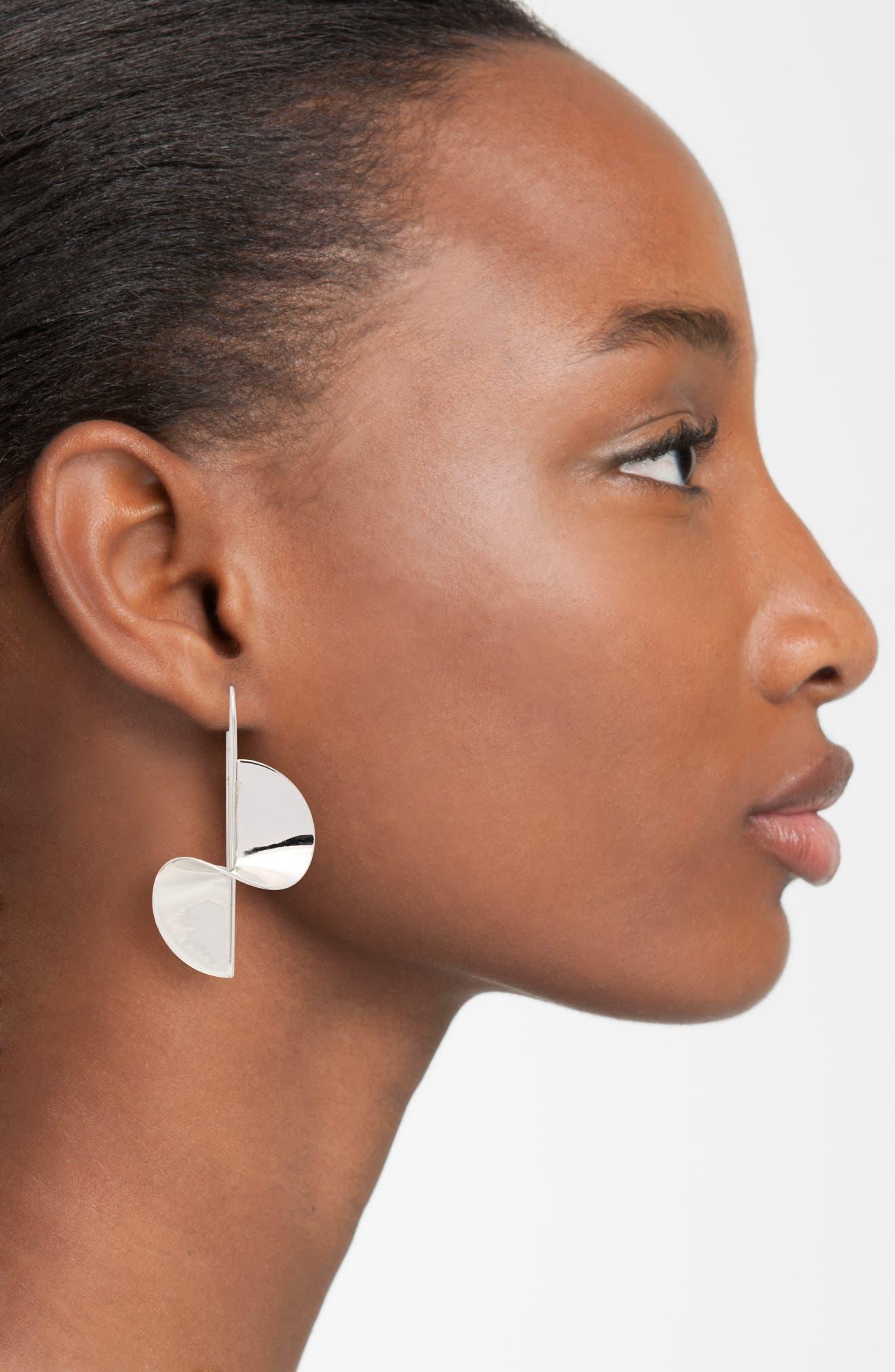 Spiral Threader Earrings,                             Alternate thumbnail 2, color,                             Silver