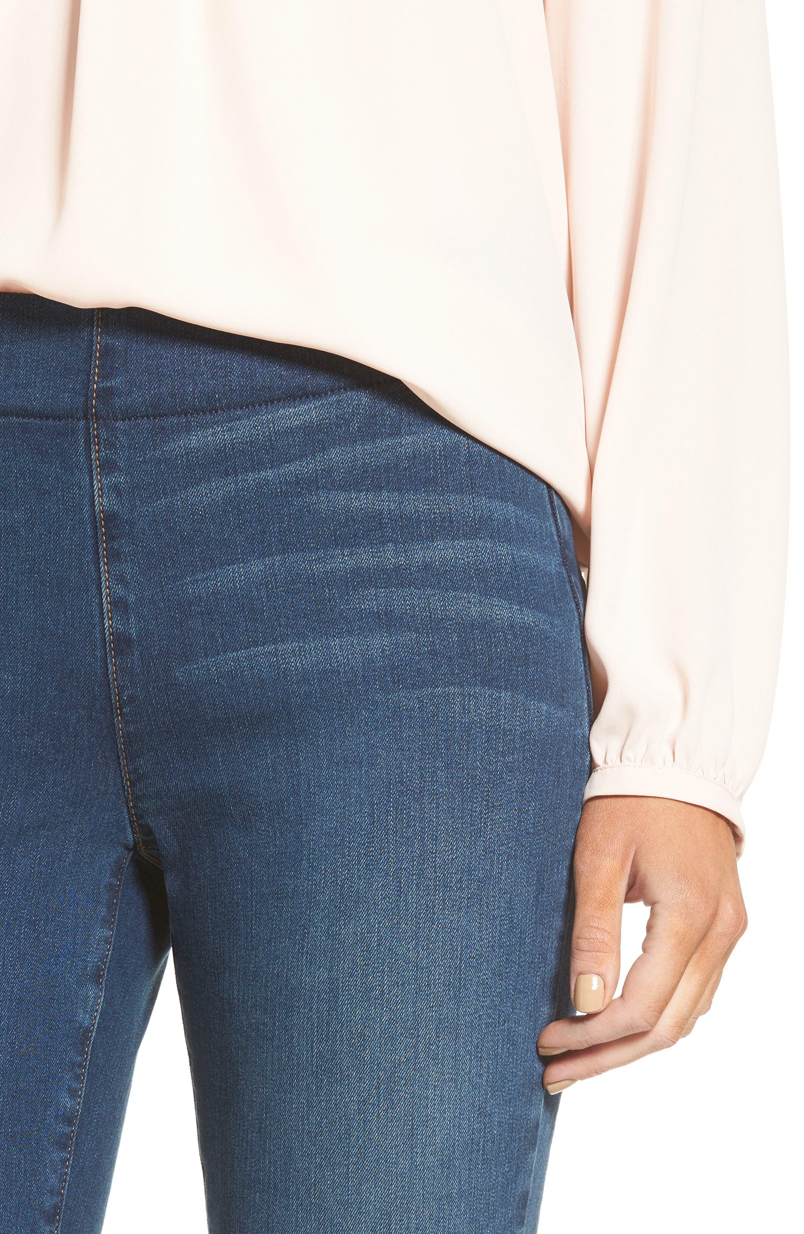 Alternate Image 4  - NYDJ Alina Pull-On Stretch Ankle Skinny Jeans (Sea Breeze) (Regular & Petite)